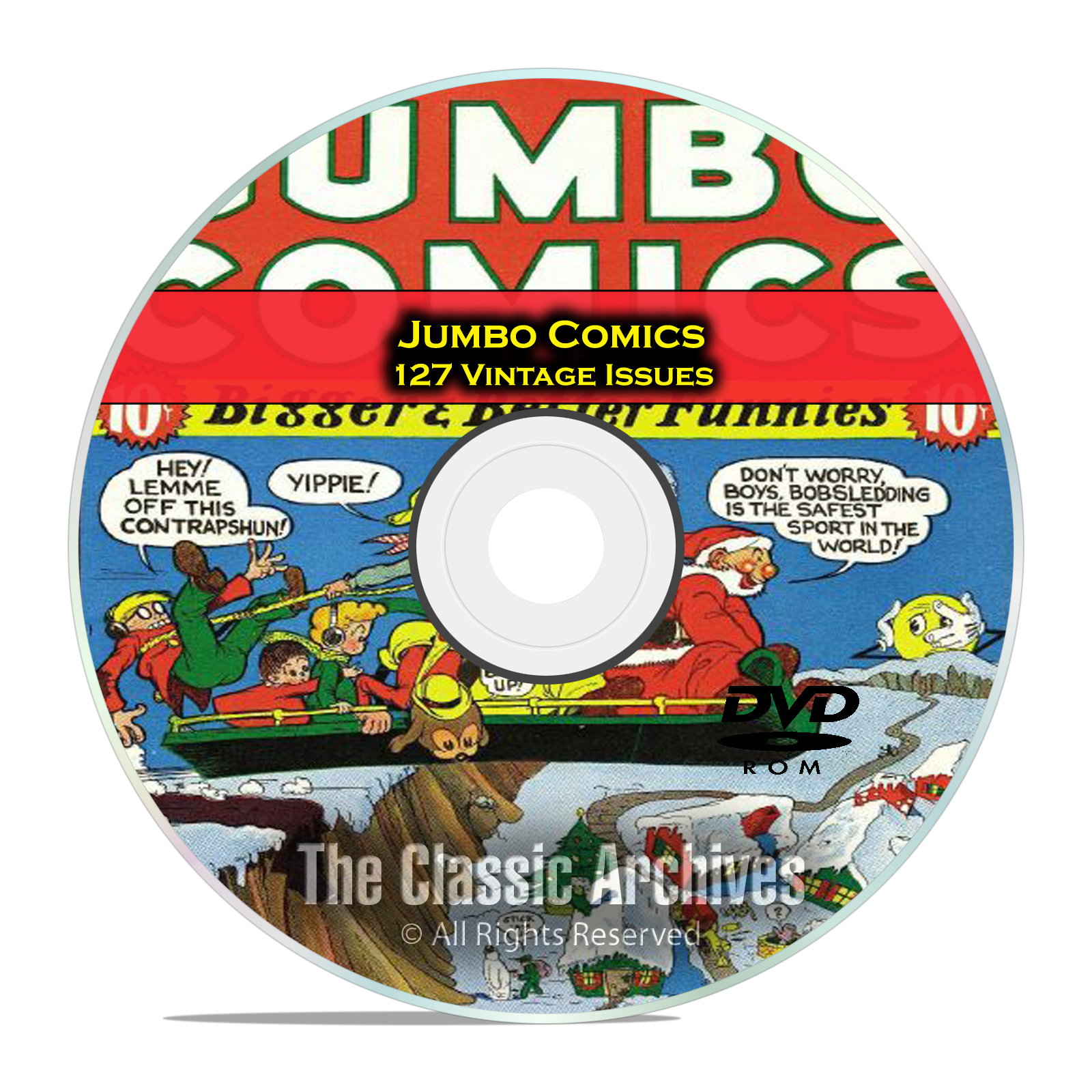 Jumbo Comics, Fiction House, 127 Issues, Vintage Golden Age Comics PDF DVD