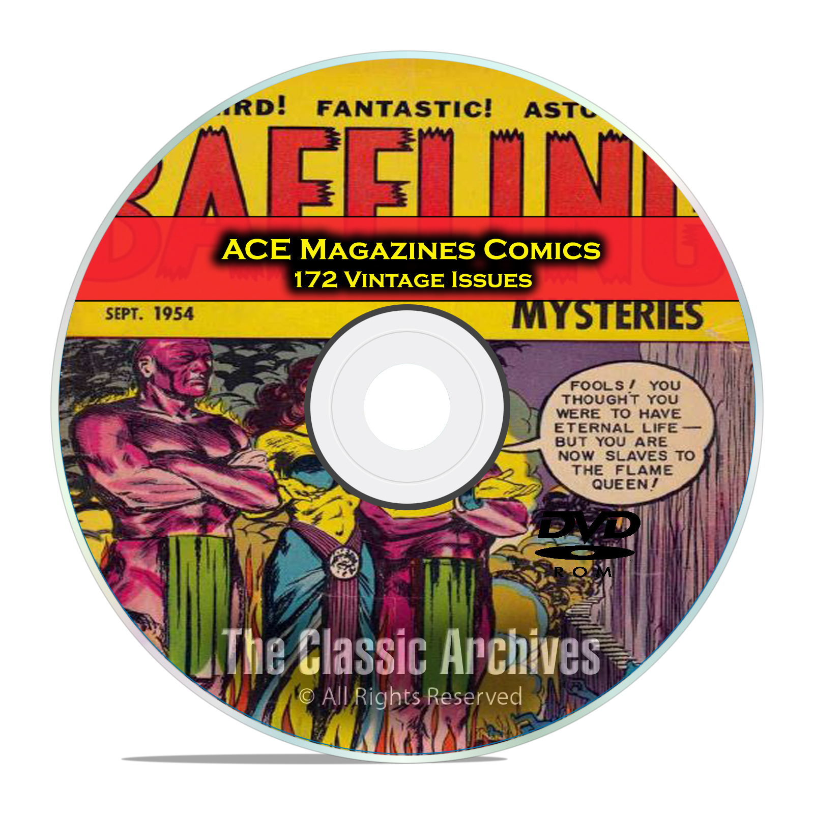 Baffling Mysteries, Beyond Lightning Comics 172 Issue Golden Age Comics DVD