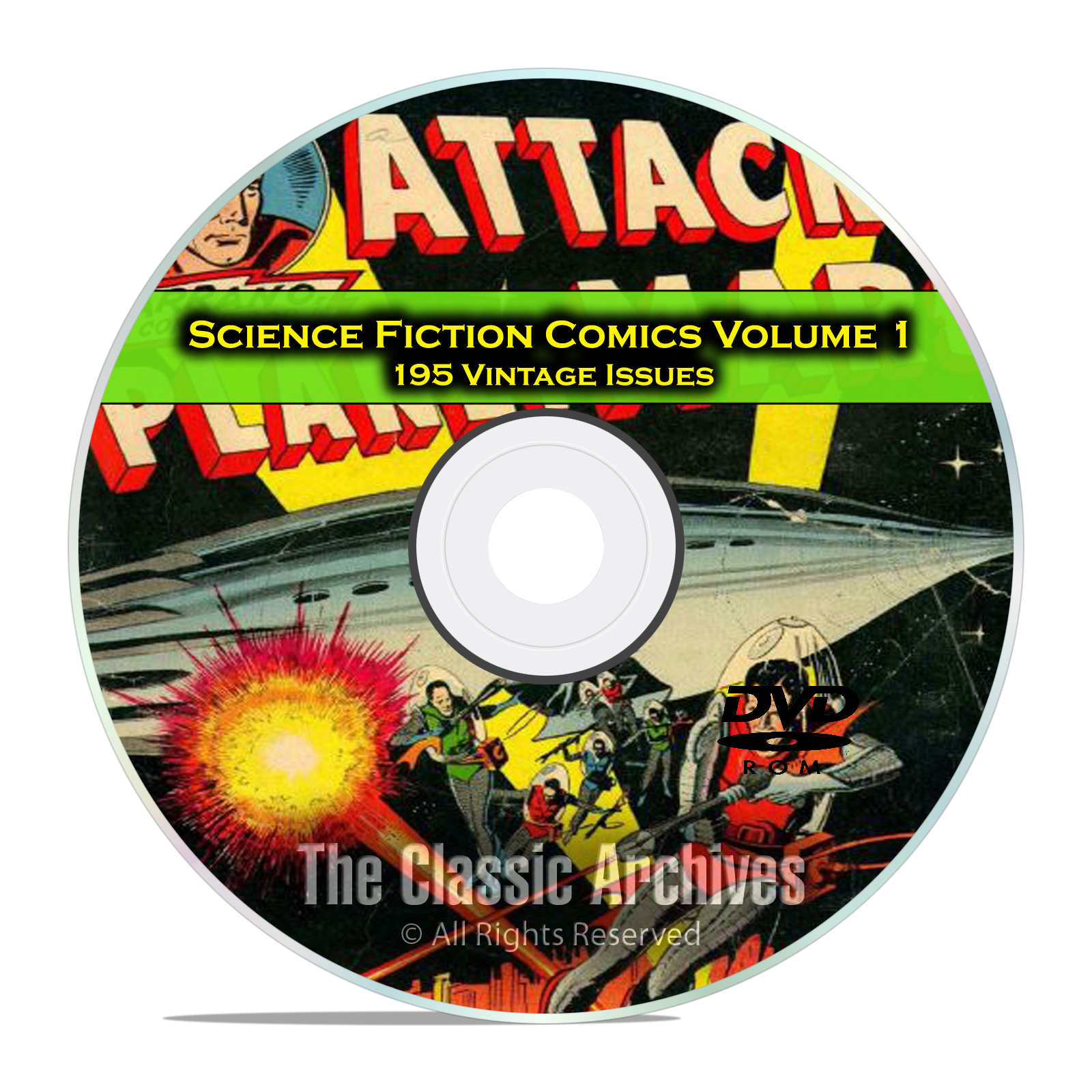 Science Fiction Comics, Vol 1, Space Adventures, Golden Age Comics PDF DVD
