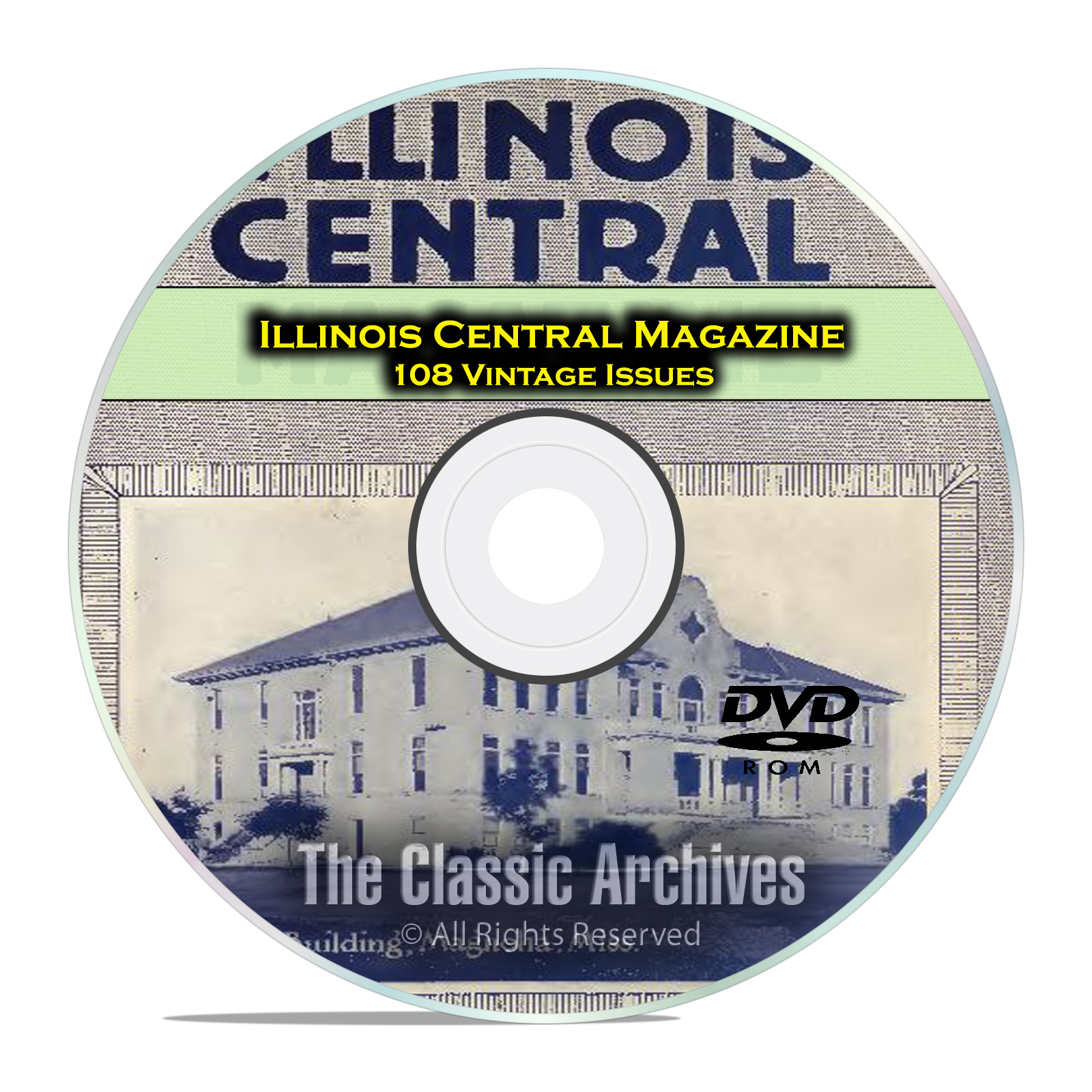 Illinois Central Employees Magazine, Vintage Railroad Life Magazine PDF DVD