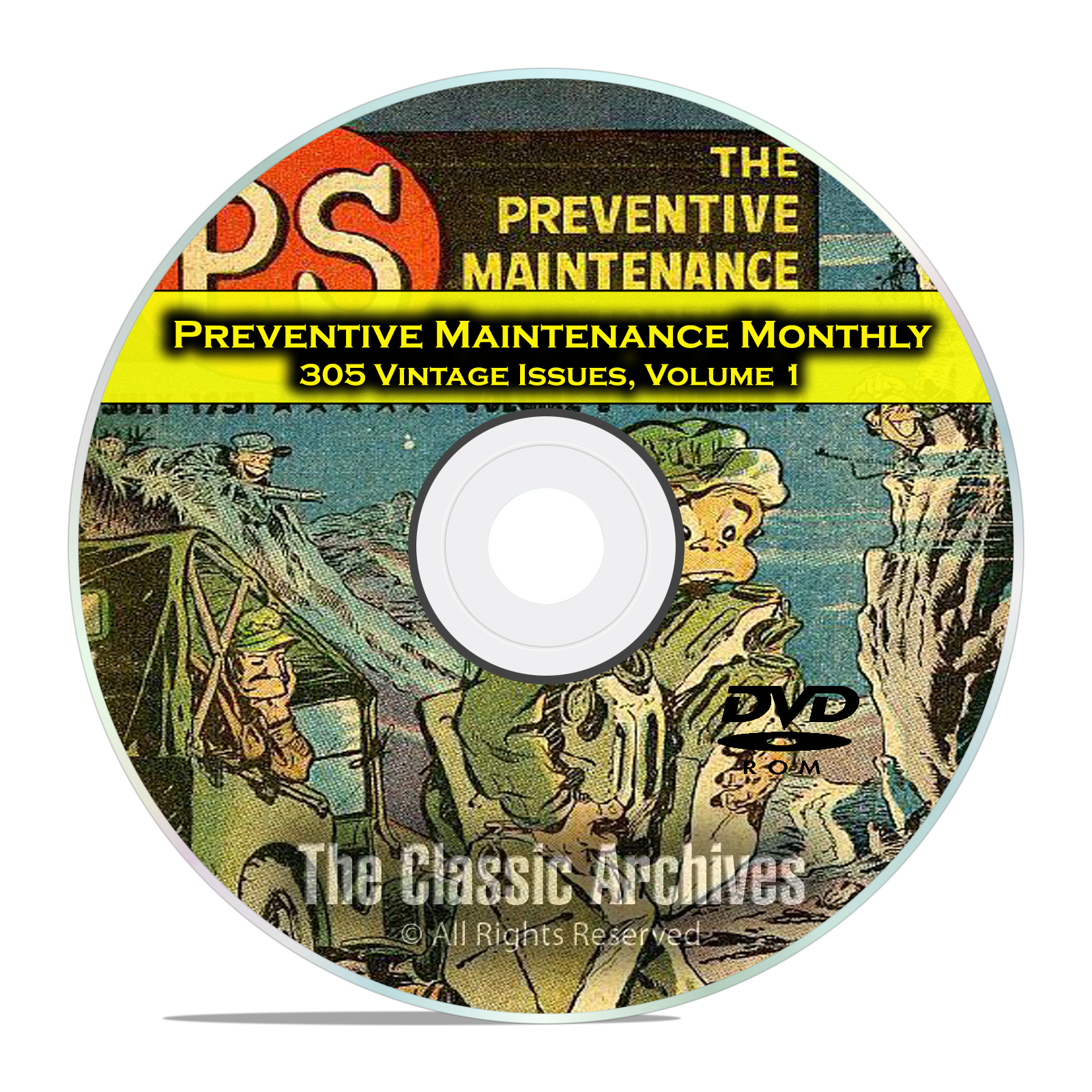 The Preventive Maintenance Monthly, Vol 1 305 Issues, Vintage Army Mags DVD