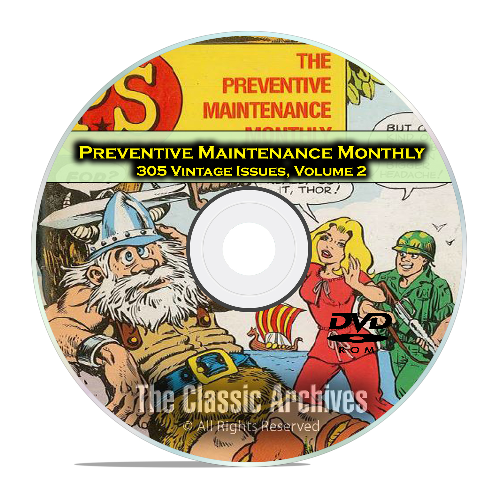 The Preventive Maintenance Monthly, Vol 2 305 Issues, Vintage Army Mags DVD