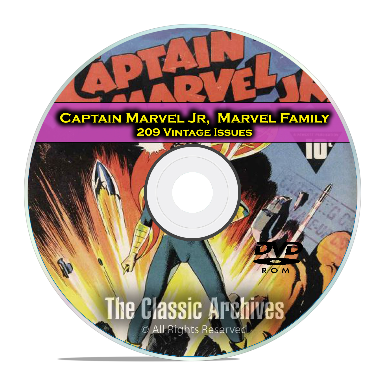 Captain Marvel Jr., and Marvel Family, 209 Issues, Golden Age Comics DVD