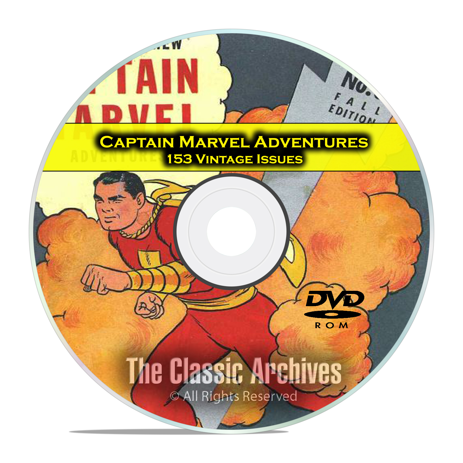 Captain Marvel Adventures, 153 Issues, Golden Age Comics PDF DVD