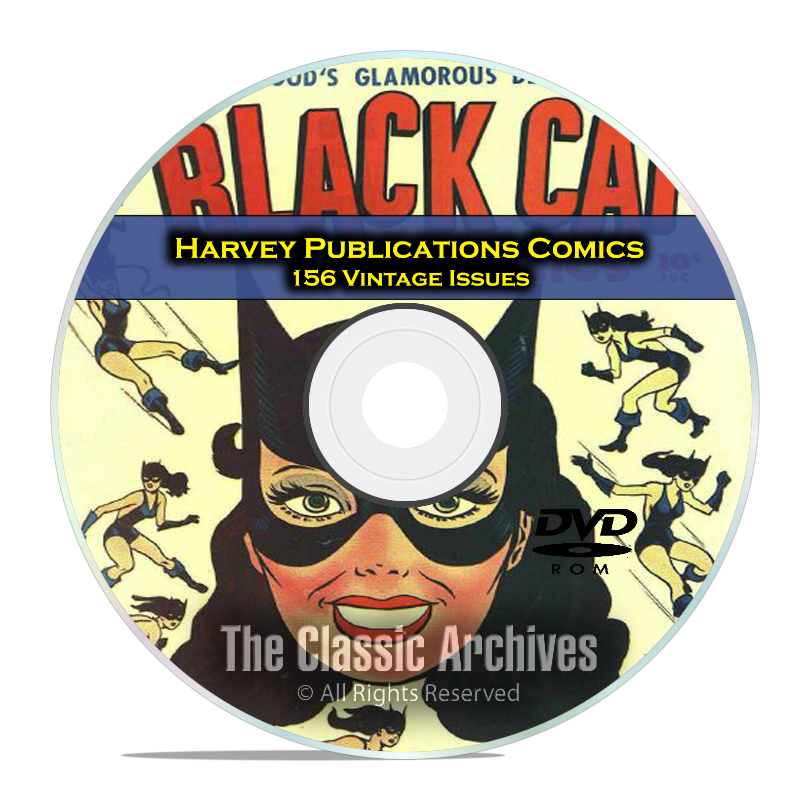 Harvey Publications Comics 156 Issues, Black Cat, Golden Age Comics PDF DVD