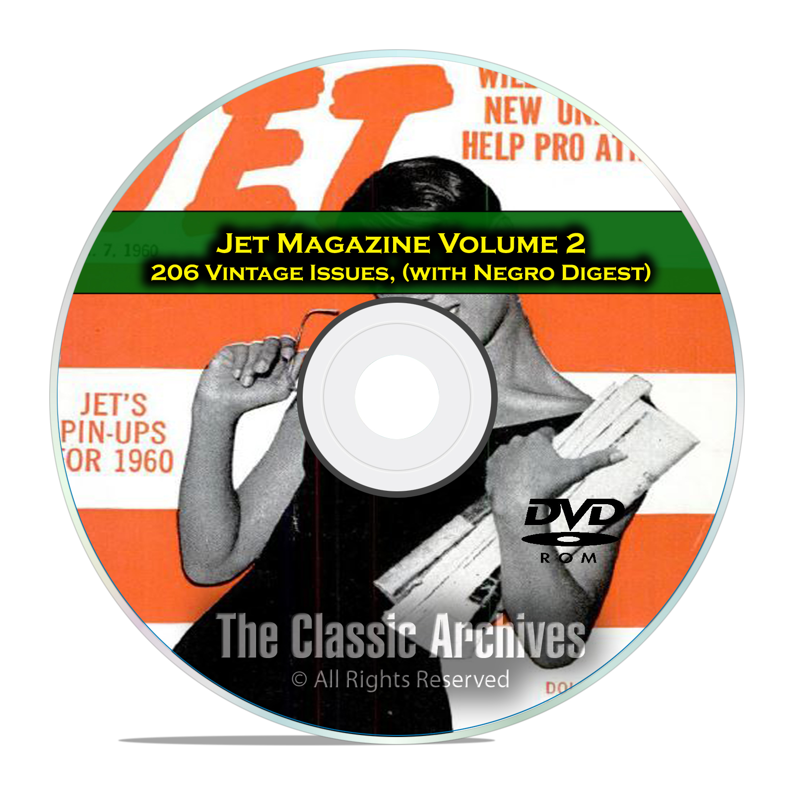 Jet Magazine, Negro Digest, Volume 2, 206 Vintage Issues, 1960-1963 PDF DVD