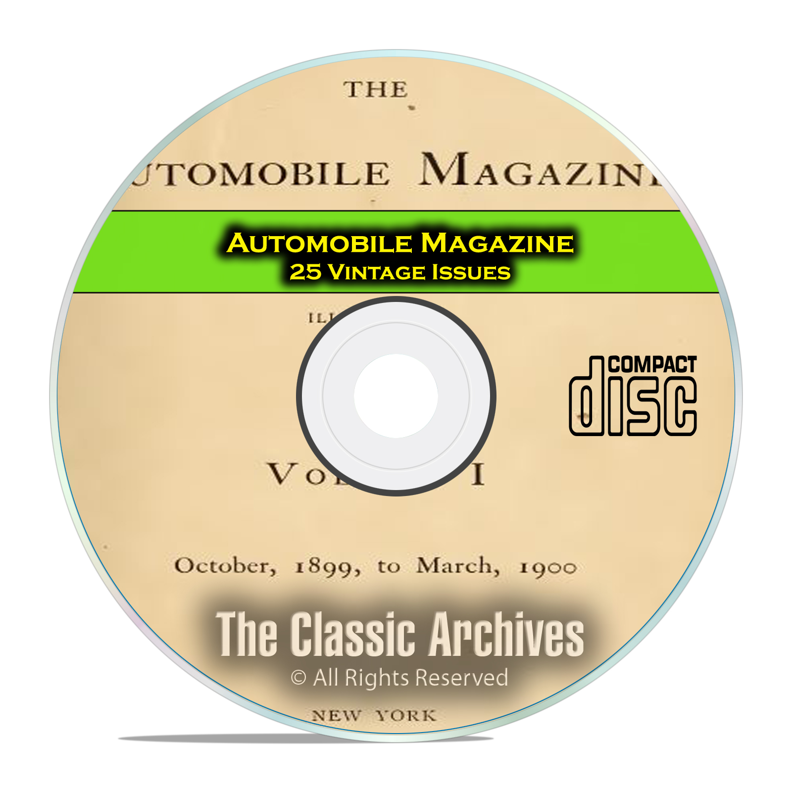 Automobile Magazine, 1899-1902, 25 Issues on PDF CD