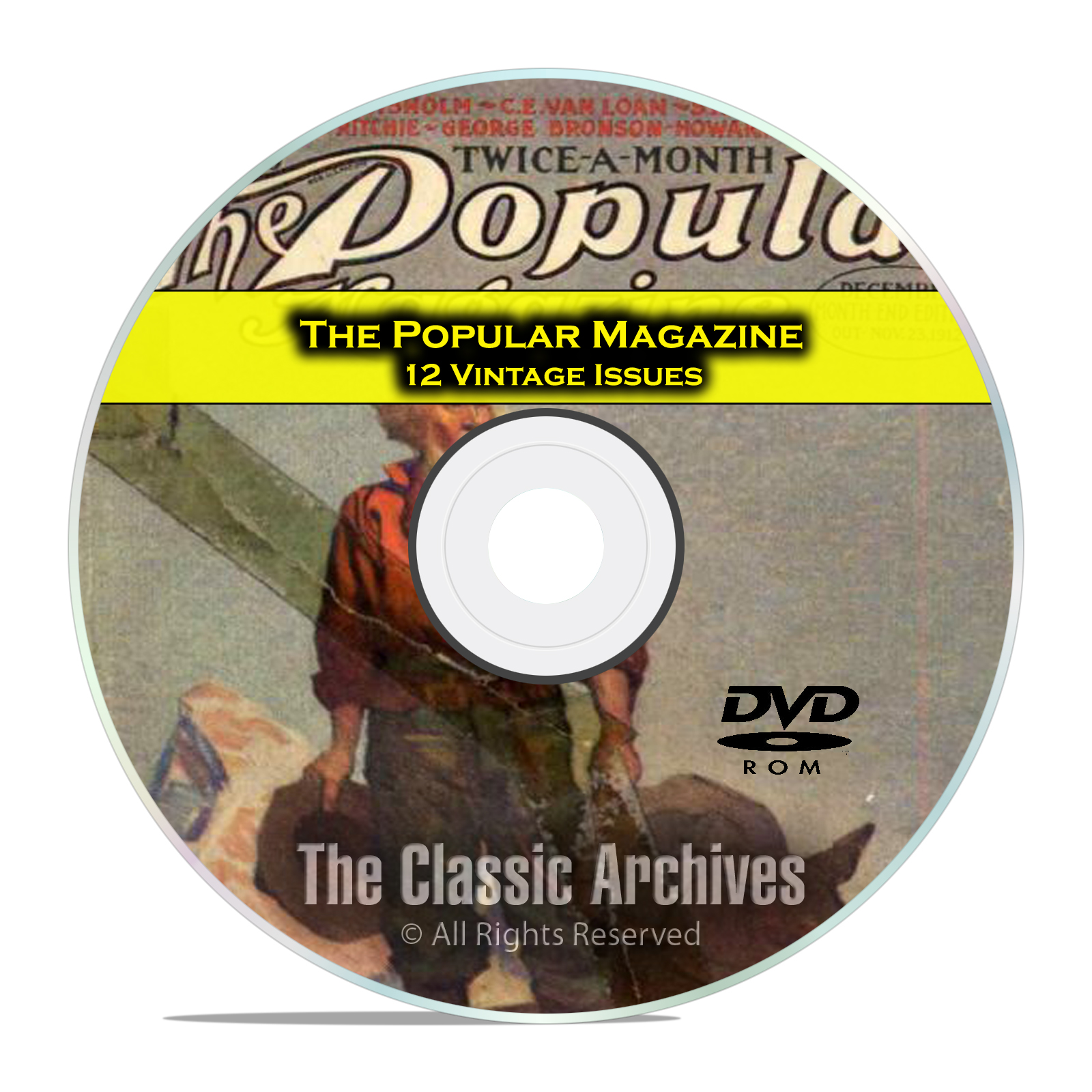 The Popular Magazine, 12 Vintage issues 1908-1918, Vintage Mens Stories DVD