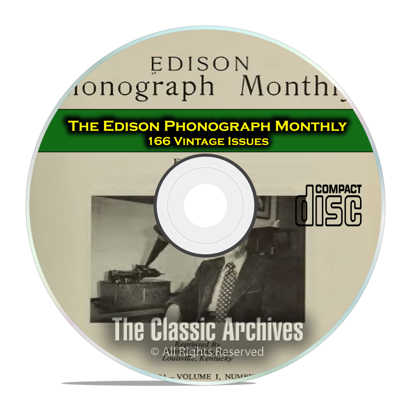 The Edison Phonograph Monthly, 166 Vintage Issues, 1903-1916, CD
