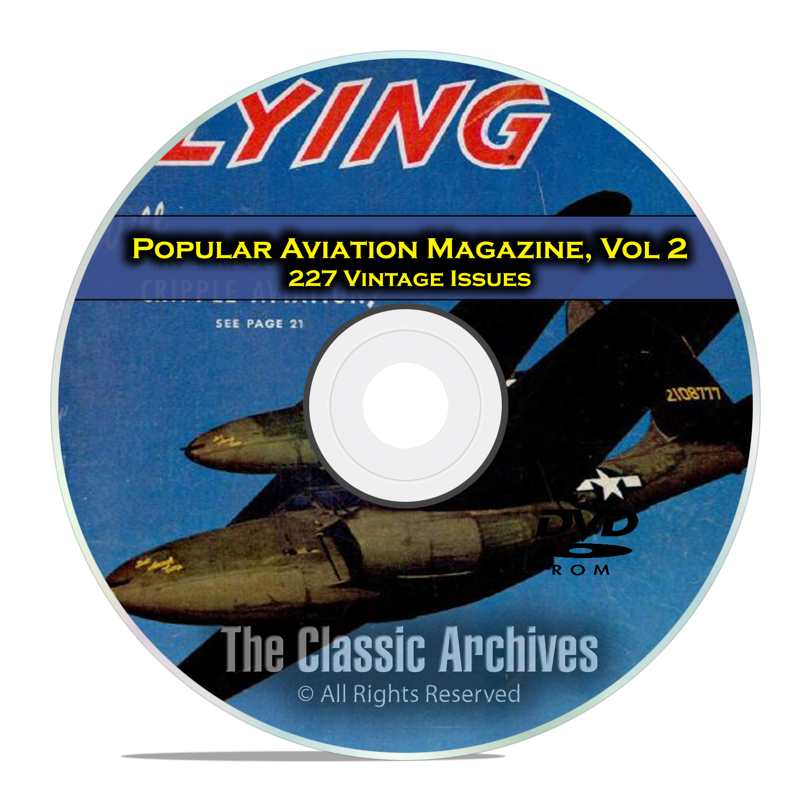 Wartime Kitchen And Garden Dvd Popular Aviation Magazine Vol 1 151 Vintage Flight Issues 1927