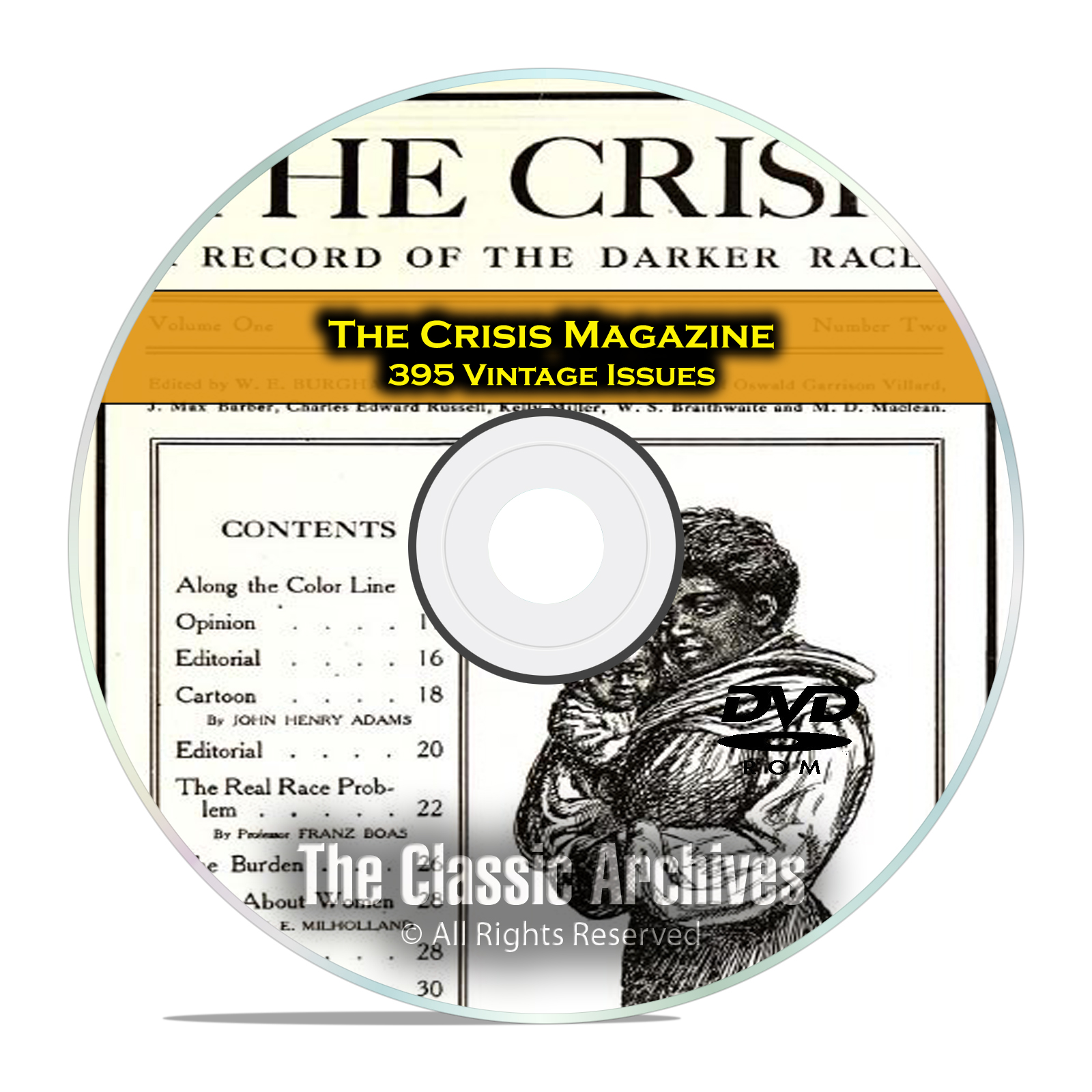 The Crisis Magazine, 395 Vintage Issues 1910-1963 American Civil Rights DVD