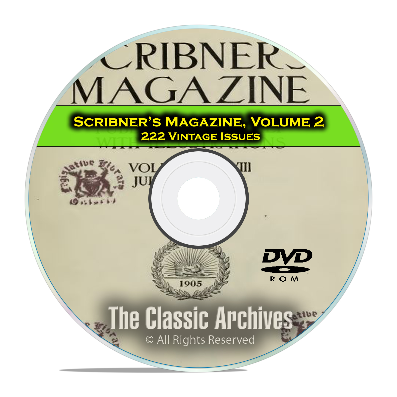 Scribner's Magazine, Vol 2, 222 Issues, 1905-1923 American History Mag DVD