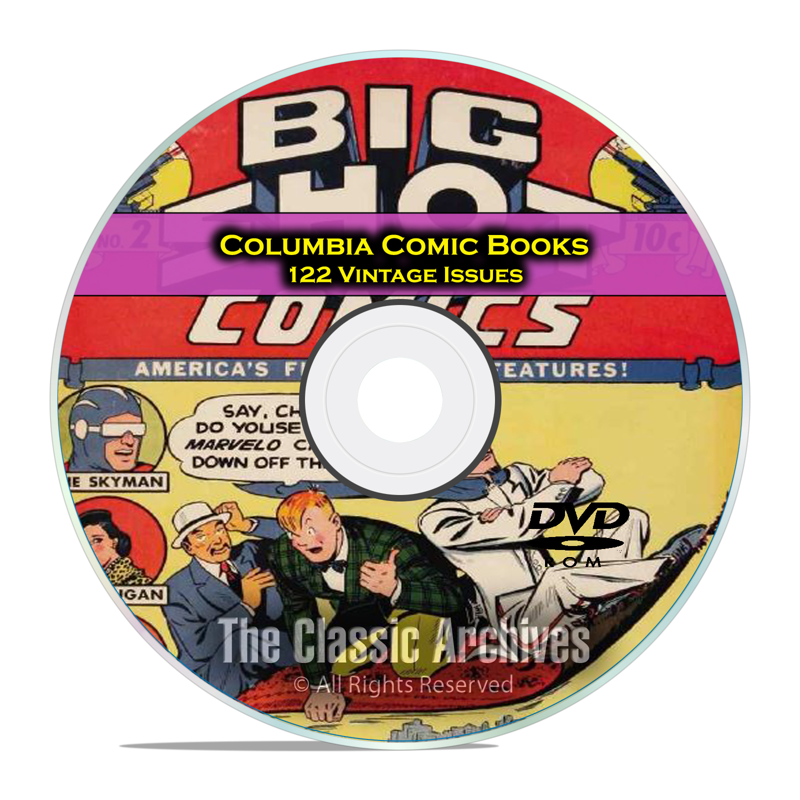 Columbia Comics, 122 Issues, Big Shot Comics, Sparky, Golden Age Comics DVD