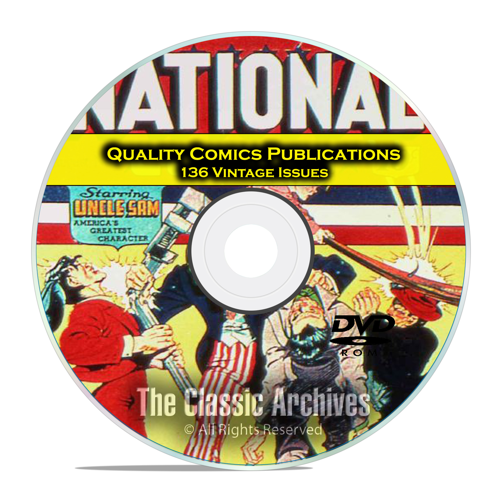 Quality Comics National Comics, T Man Ken Shannon 136 Golden Age Comics DVD