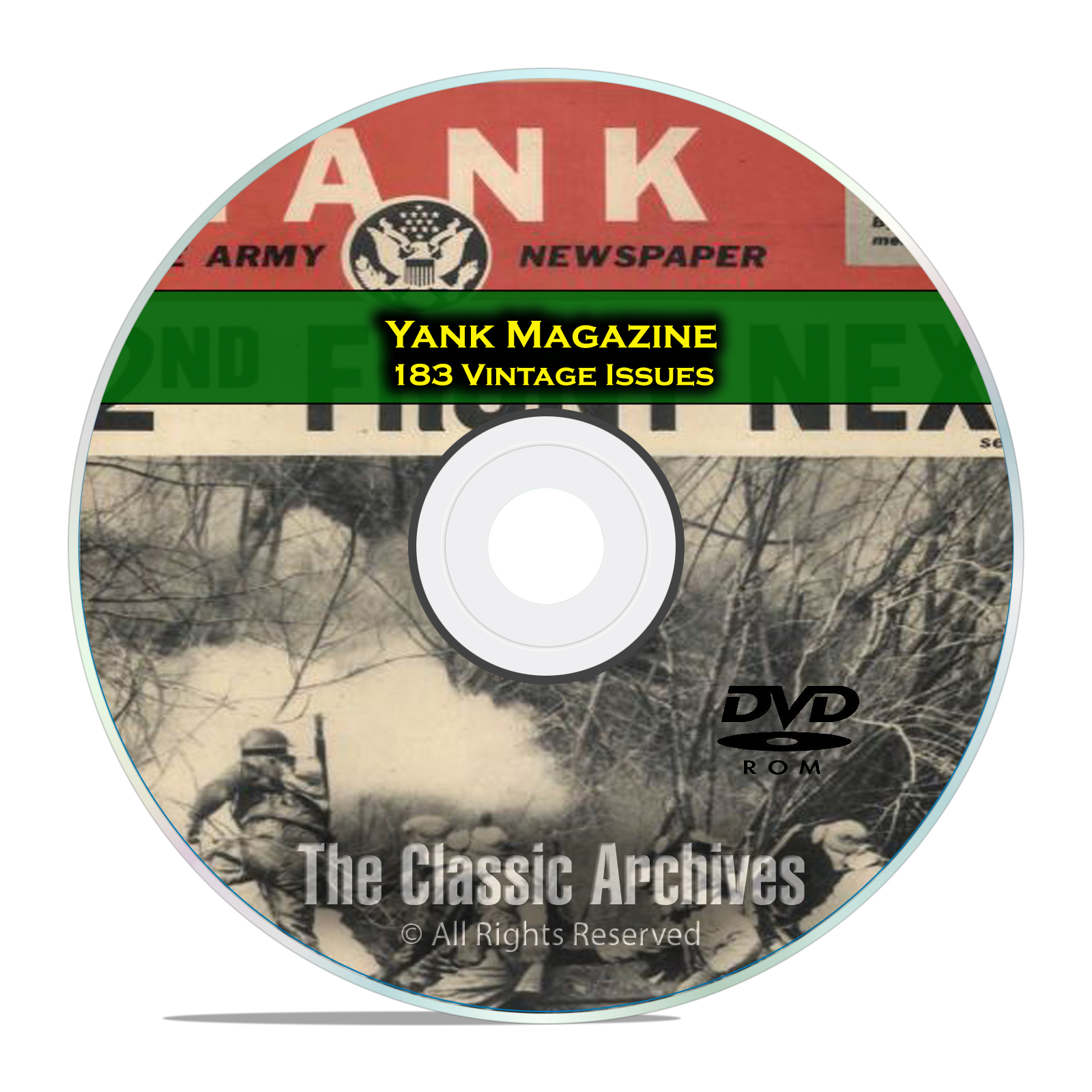 Yank Magazine, 183 Issues, 1942 - 1945, WWII GI War Military Magazine DVD