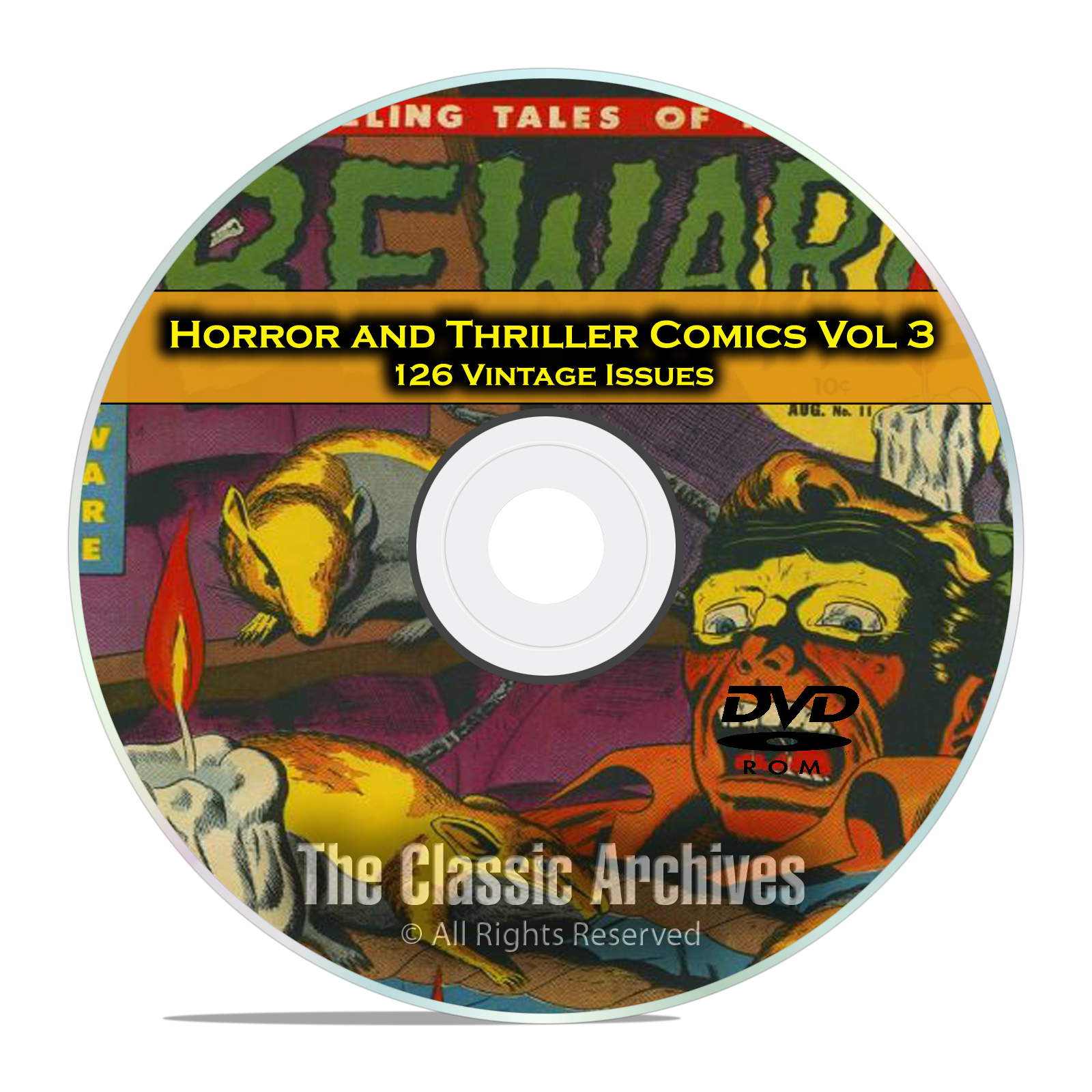 Horror and Thriller Comics Vol 3 Beware Mysteries 126 Golden Age Comics DVD