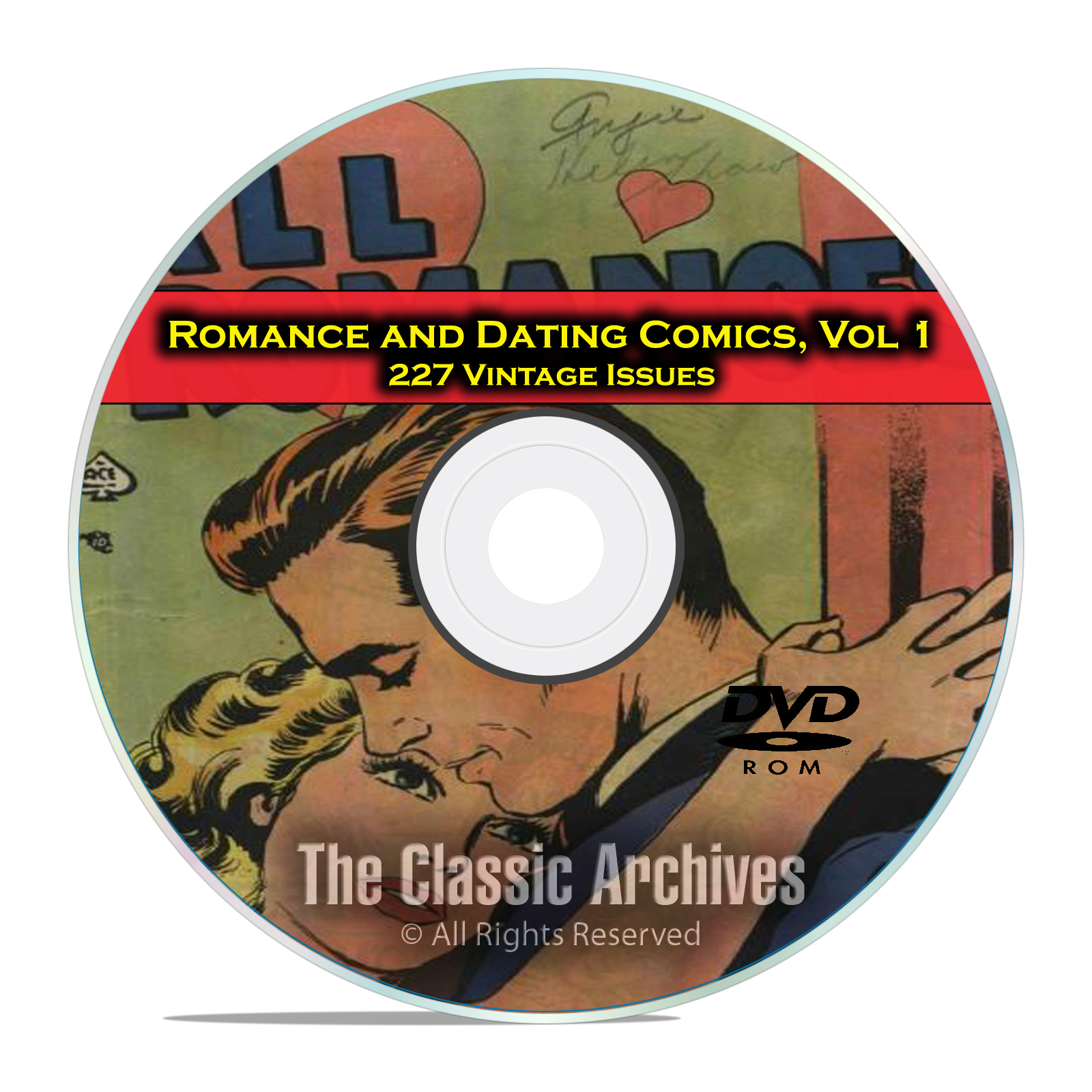 Romance, Love, Dating Comics, Vol 1, All Romances, Brides, Golden Age DVD