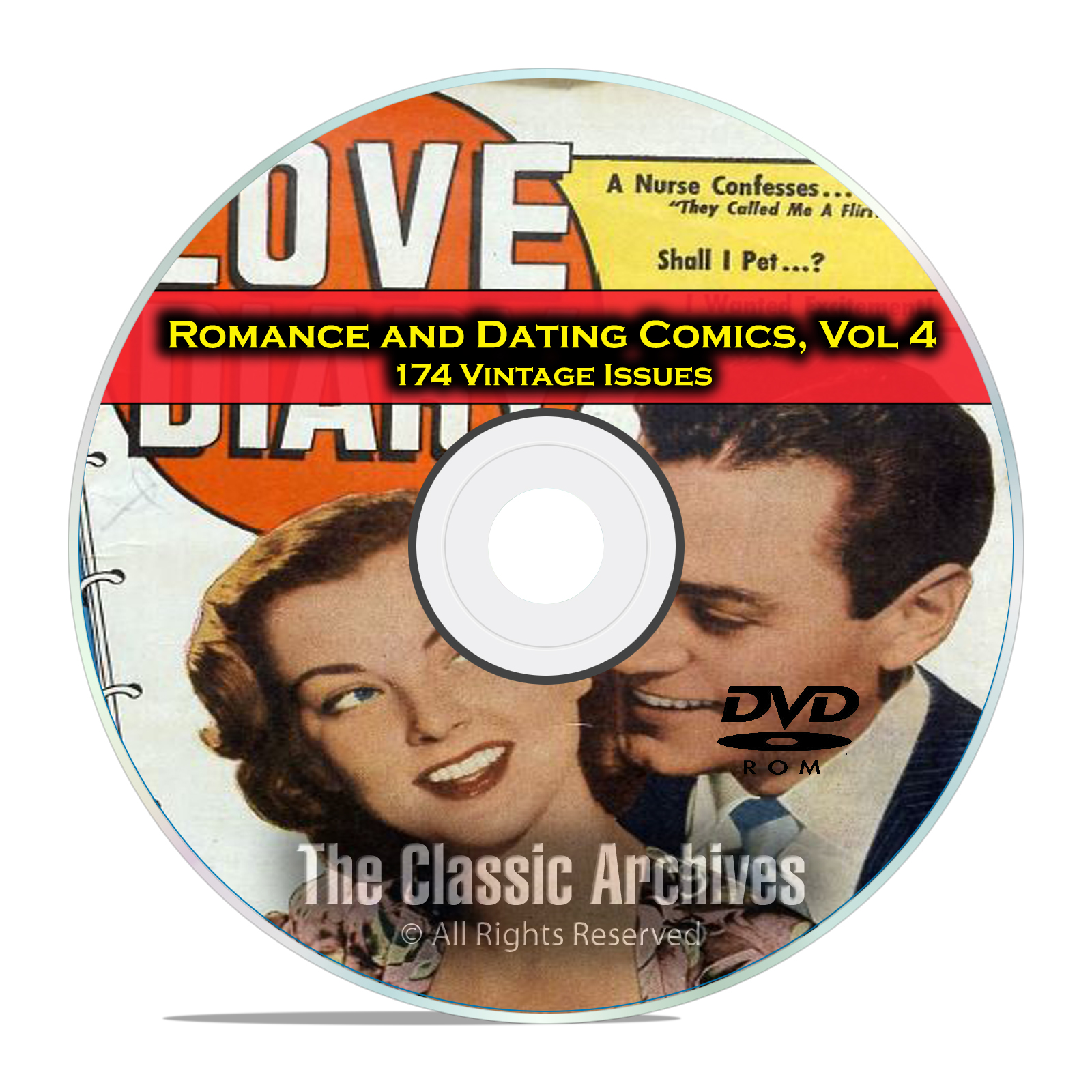 Romance, Love, Dating Comics, Vol 4, Love Diary, Young Love, Golden Age DVD