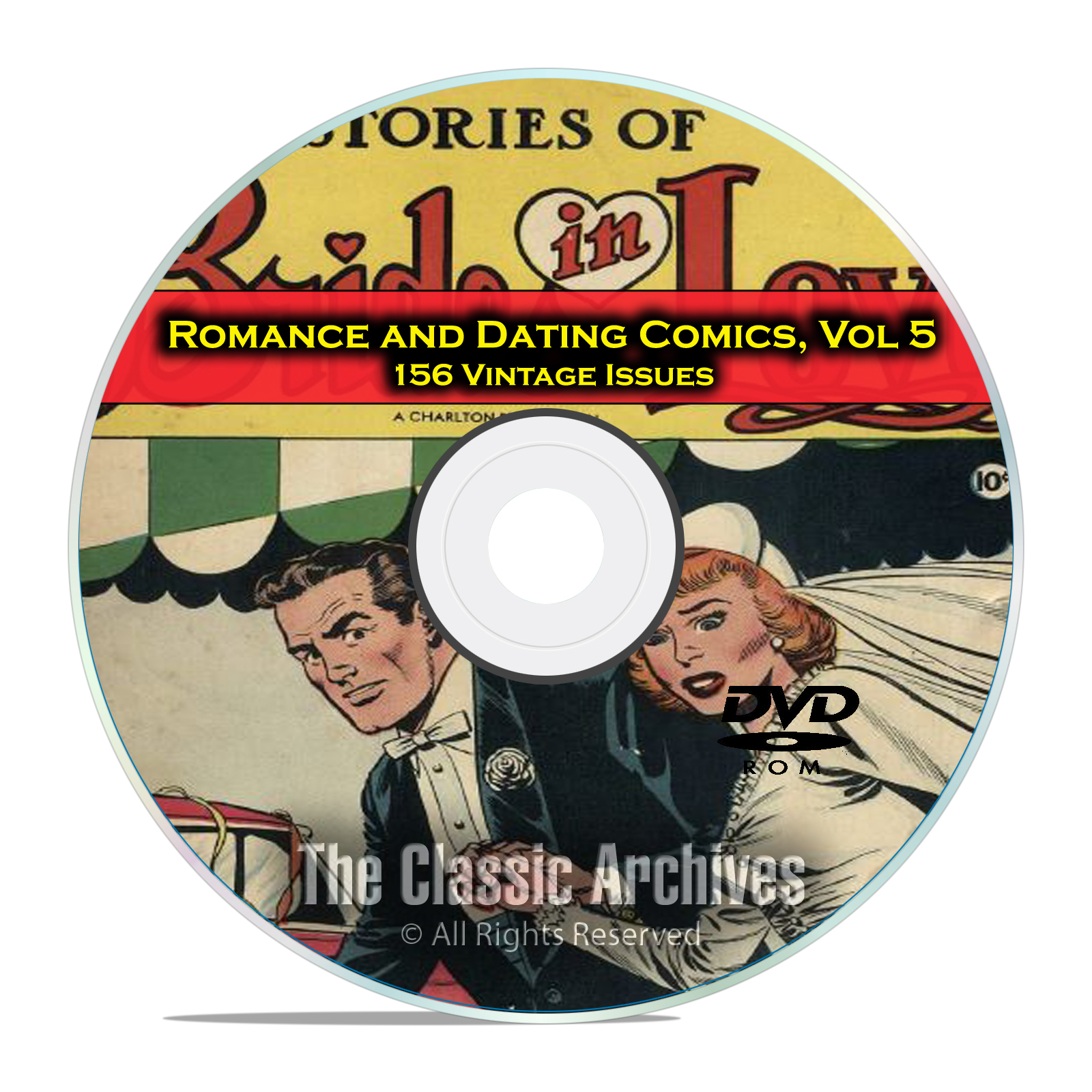 Romance, Love, Dating Comics, Vol 5, Brides in Love, Golden Age DVD