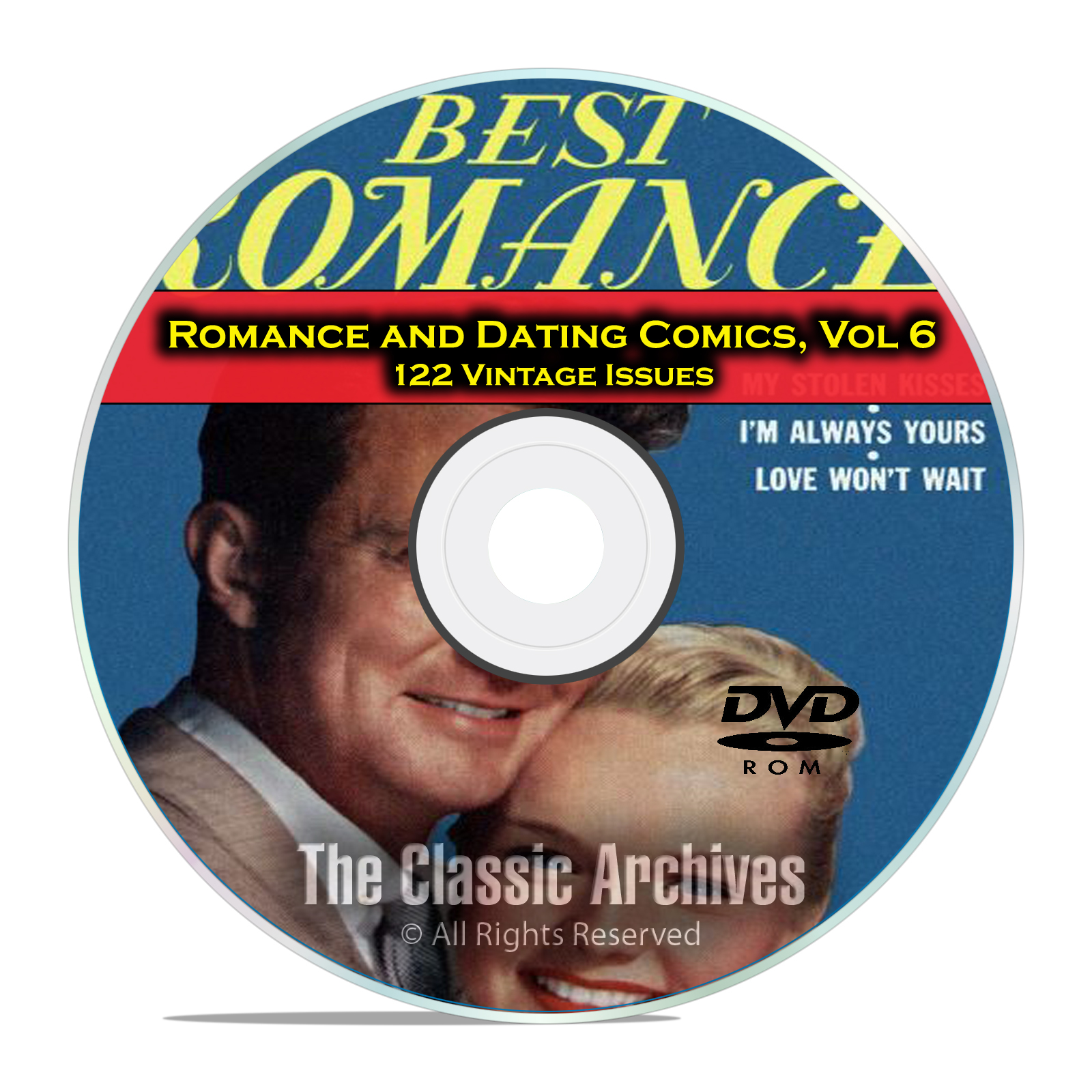 Romance, Love, Dating Comics, Vol 6, Confessions of Lovelorn Golden Age DVD