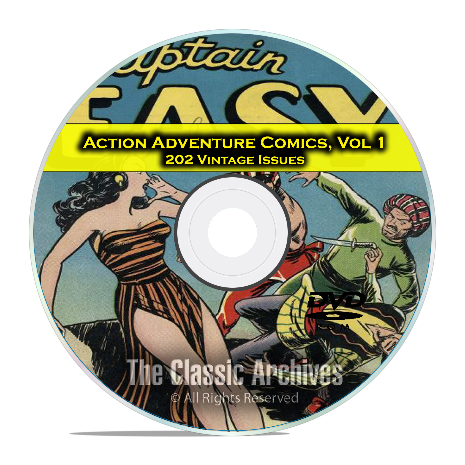 Action Adventure Comics, Vol 1, All Top Comics, Jungle Jim, Golden Age DVD