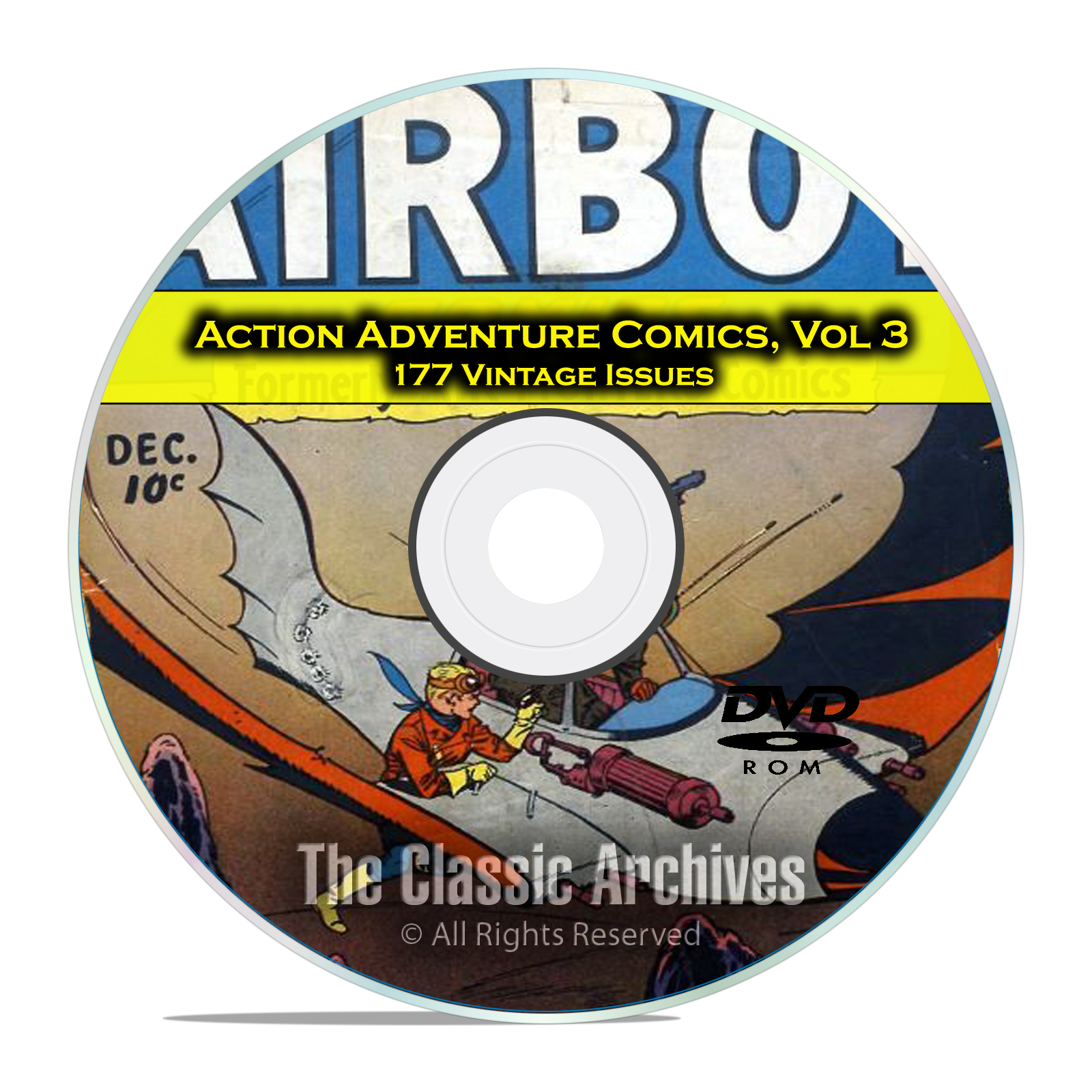Action Adventure Comics, Vol 3, Airboy Jo Jo, Rulah, Jungle, Golden Age DVD