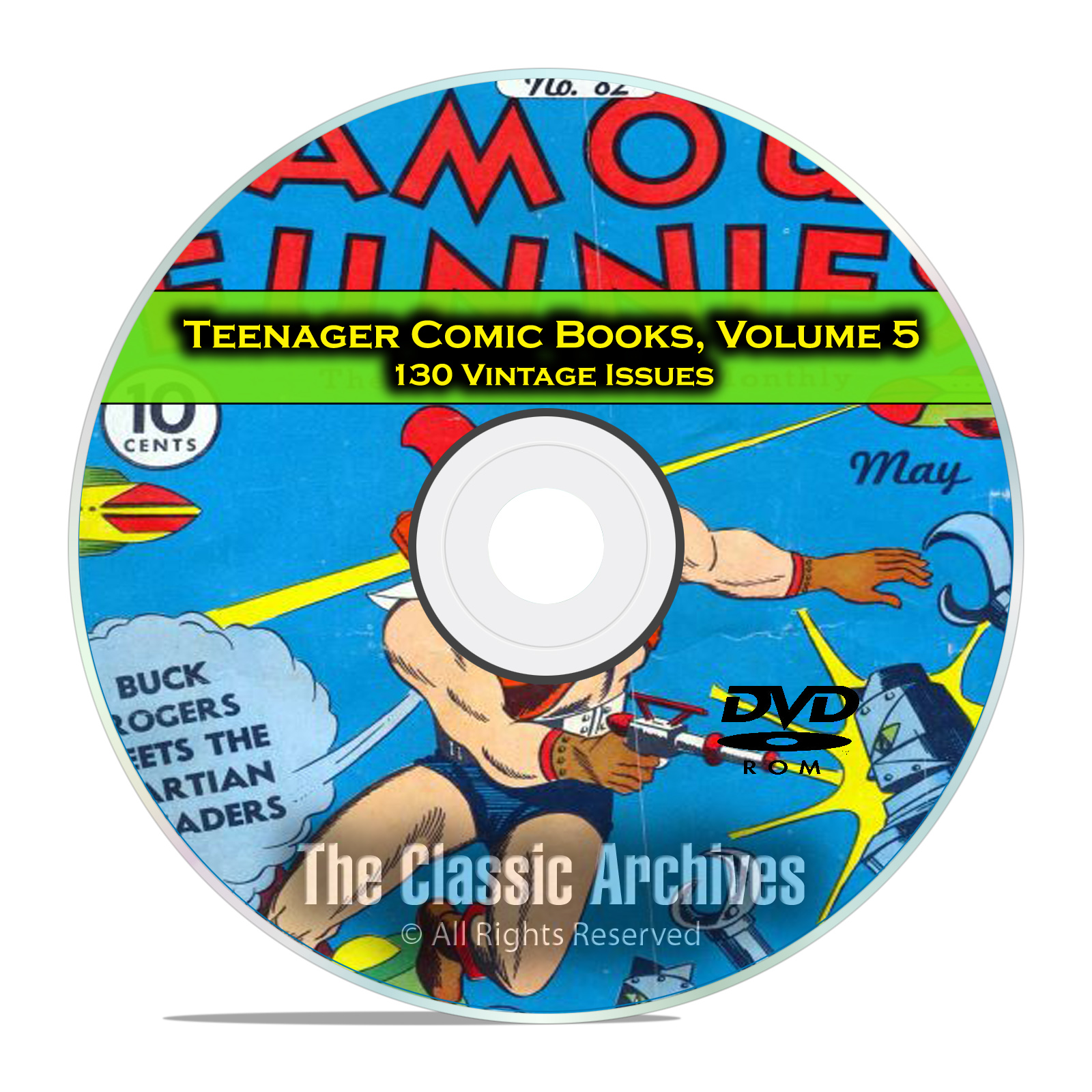 Teenager Comic Books, Vol 5, Famous Funnies, 130 Issues Golden Age DVD