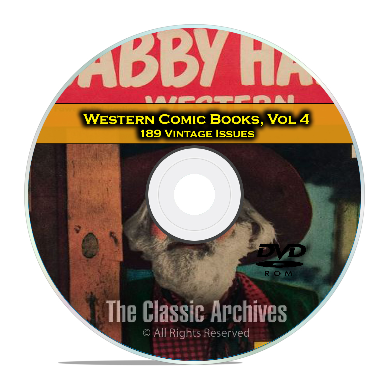 Western Comic Books, Vol 4, Gabby Hayes, Tex Ritter, Tom Mix Golden Age DVD
