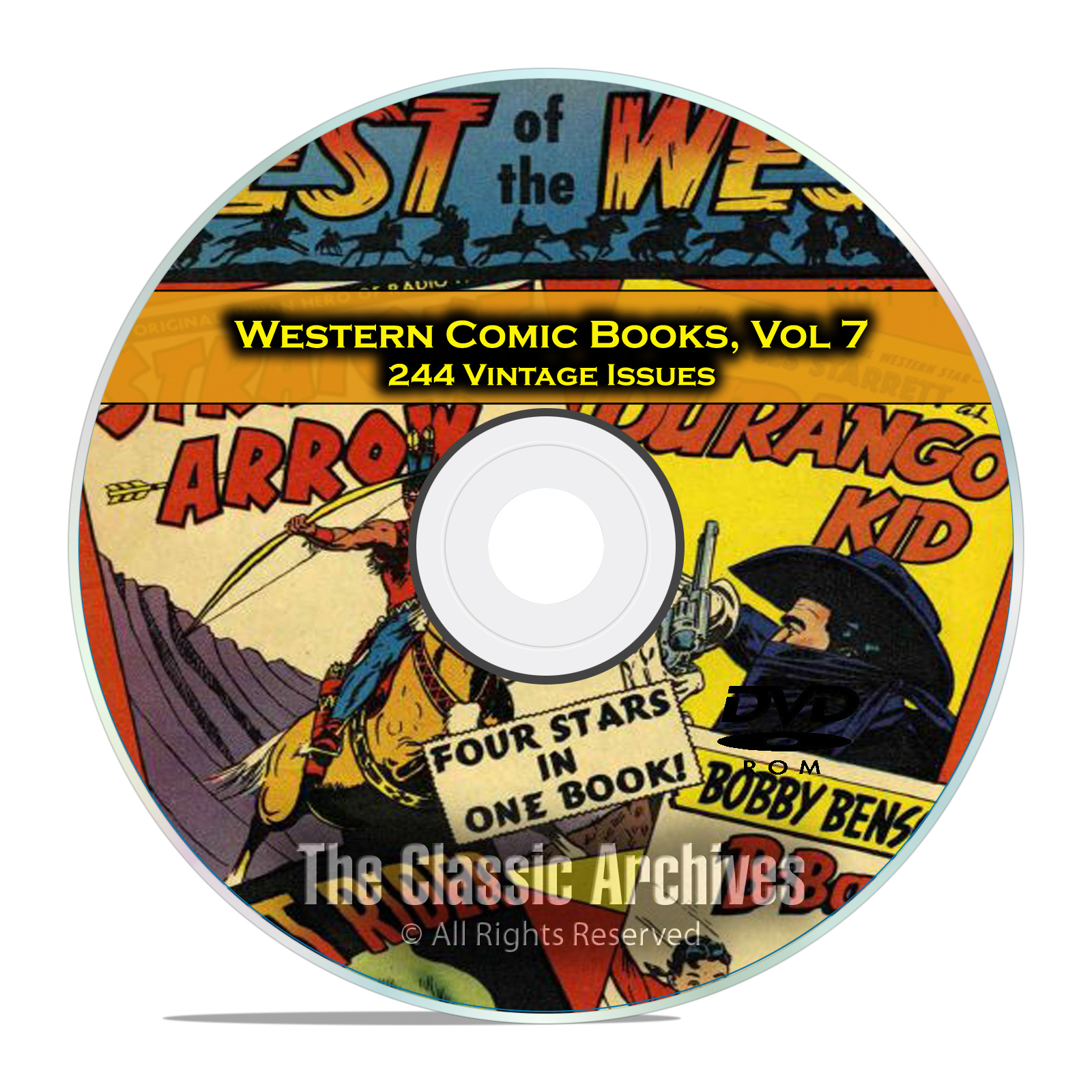 Western Comic Books, Vol 7, Best of the West, Straight Arrow Golden Age DVD