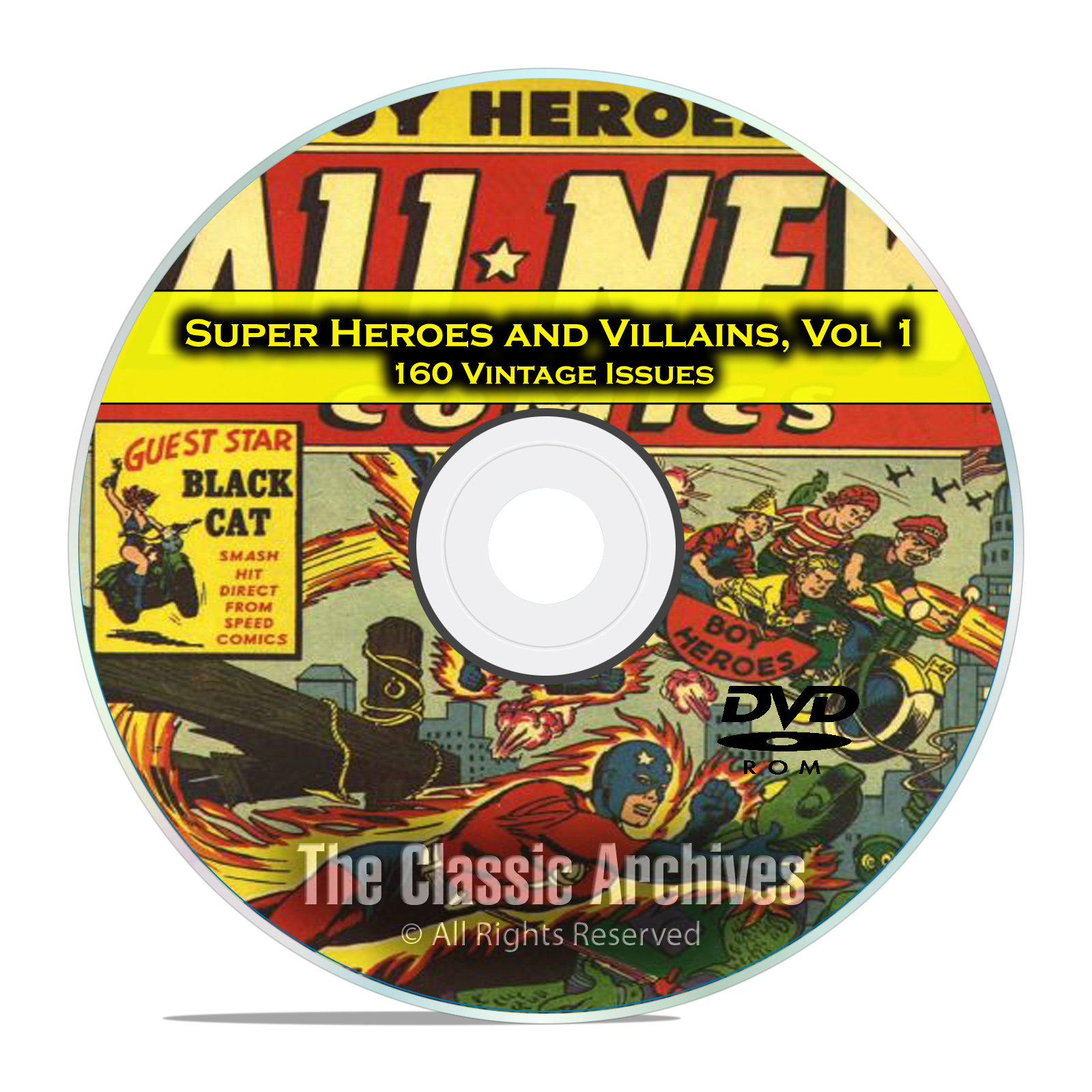 Super Hero, Villains, Vol 1, Black Terror, Exciting, Golden Age Comics DVD