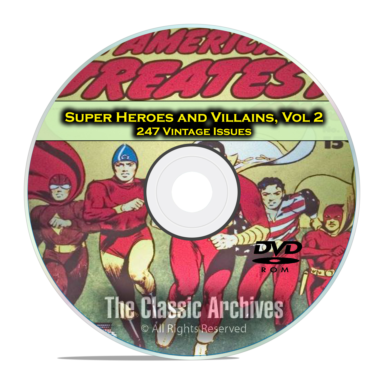 Super Hero, Villains, Vol 2, Whiz Comics, Nickel, Golden Age Comics DVD