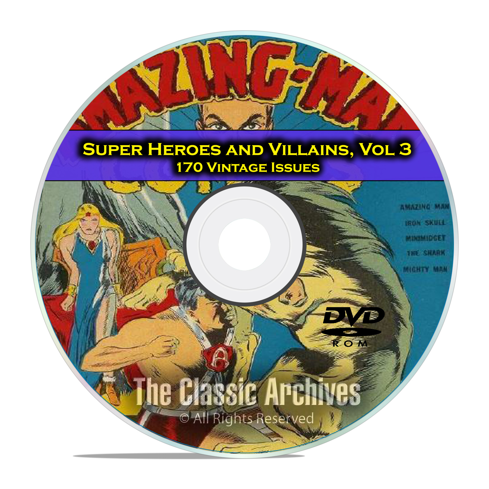 Super Hero Villains, Vol 3, The Blue Beetle Bulletman Golden Age Comics DVD