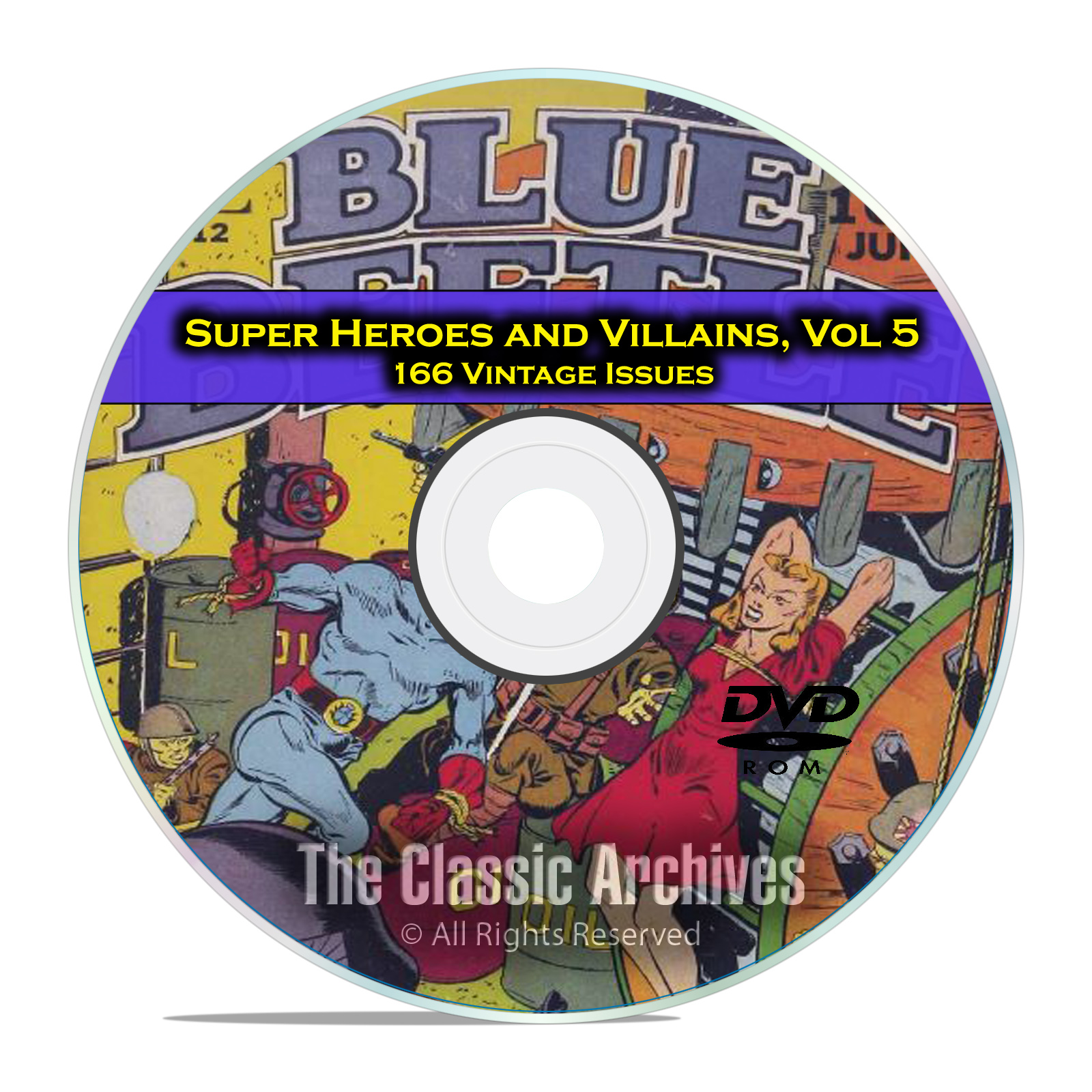 Super Hero Villains, Vol 5, Blue Beetle, Green Hornet Golden Age Comics DVD