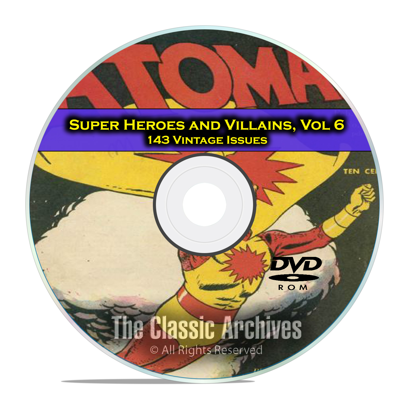 Super Hero, Villains, Vol 6, Blackhood, Top Notch, Golden Age Comics DVD