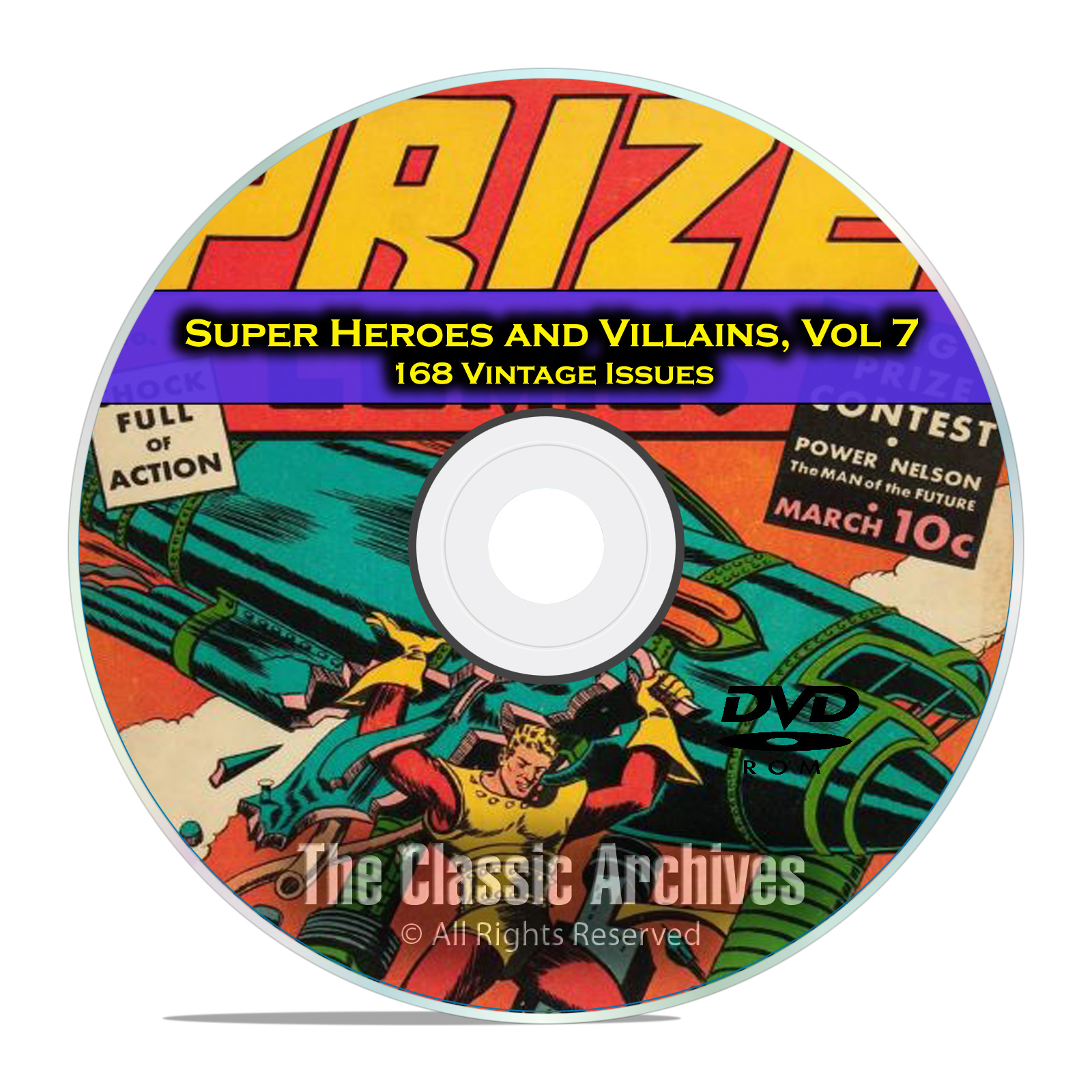 Super Hero, Villains, Vol 7, Prize and Target Comics, Golden Age Comics DVD