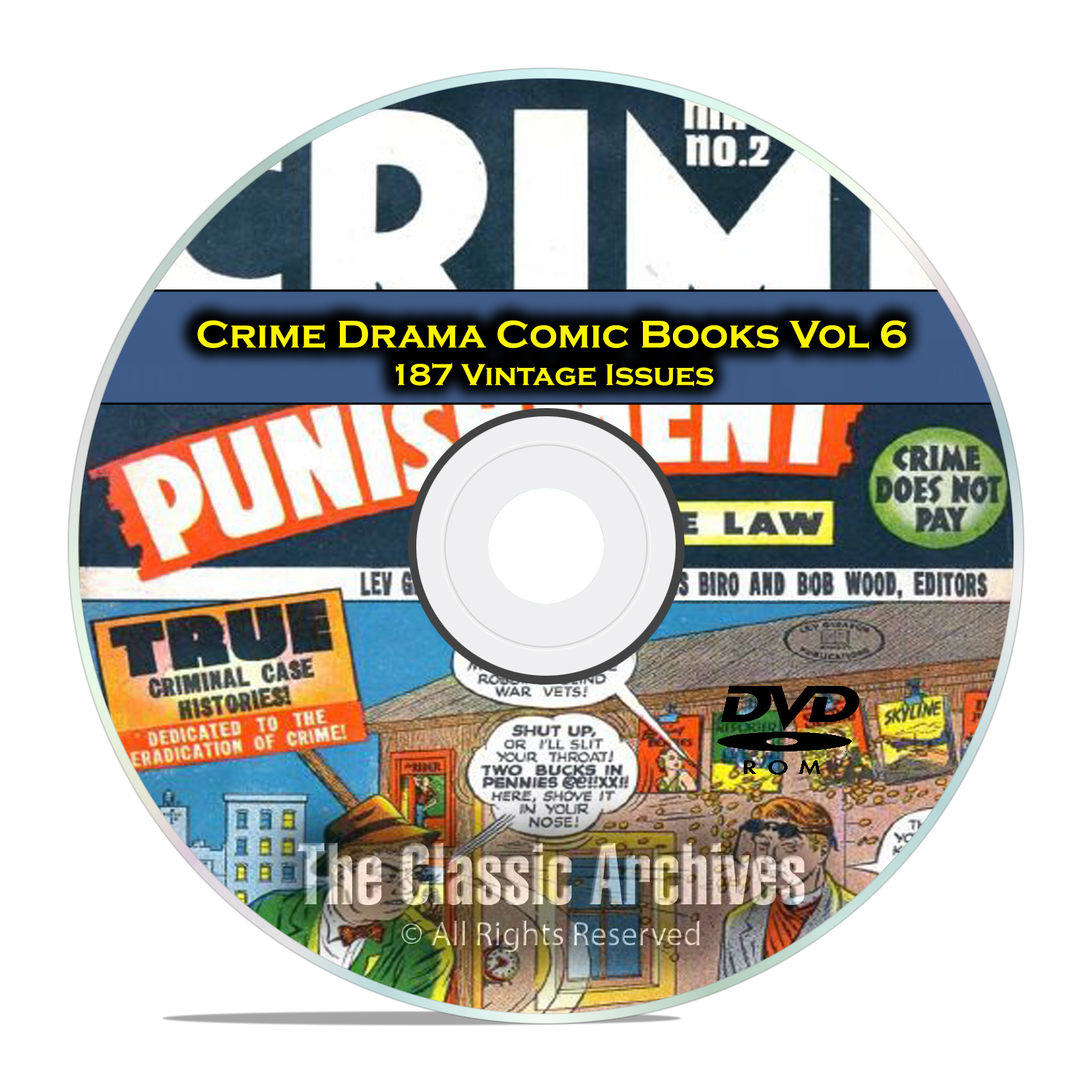 Crime Drama, Suspense, Vol 6, Crime and Punishment, Golden Age Comics DVD