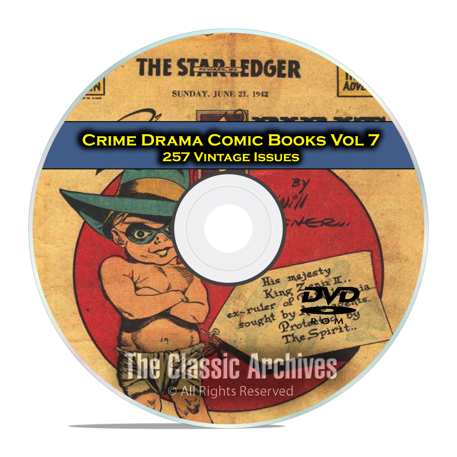 Crime Drama, Suspense, Vol 7, Justice Traps The Guilty Golden Age Comic DVD - Click Image to Close