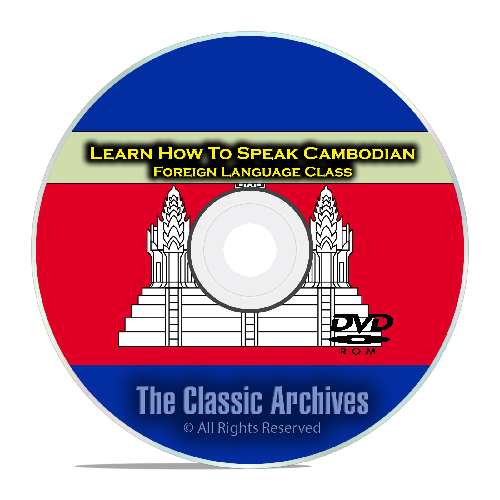 Learn How To Speak Cambodian, Fast Foreign Language Training Course, DVD