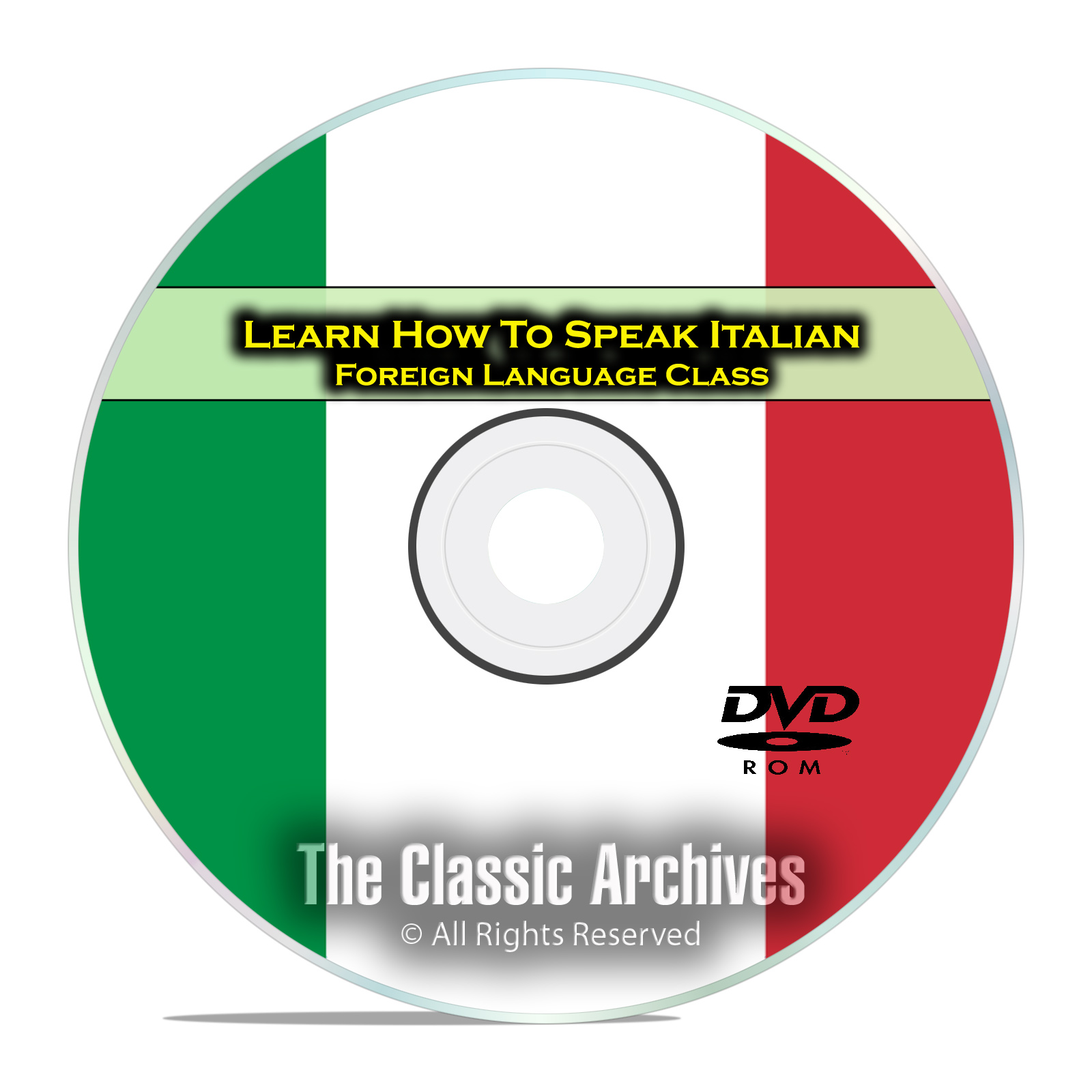 Learn How To Speak Italian, Fast Foreign Language Training Course, DVD