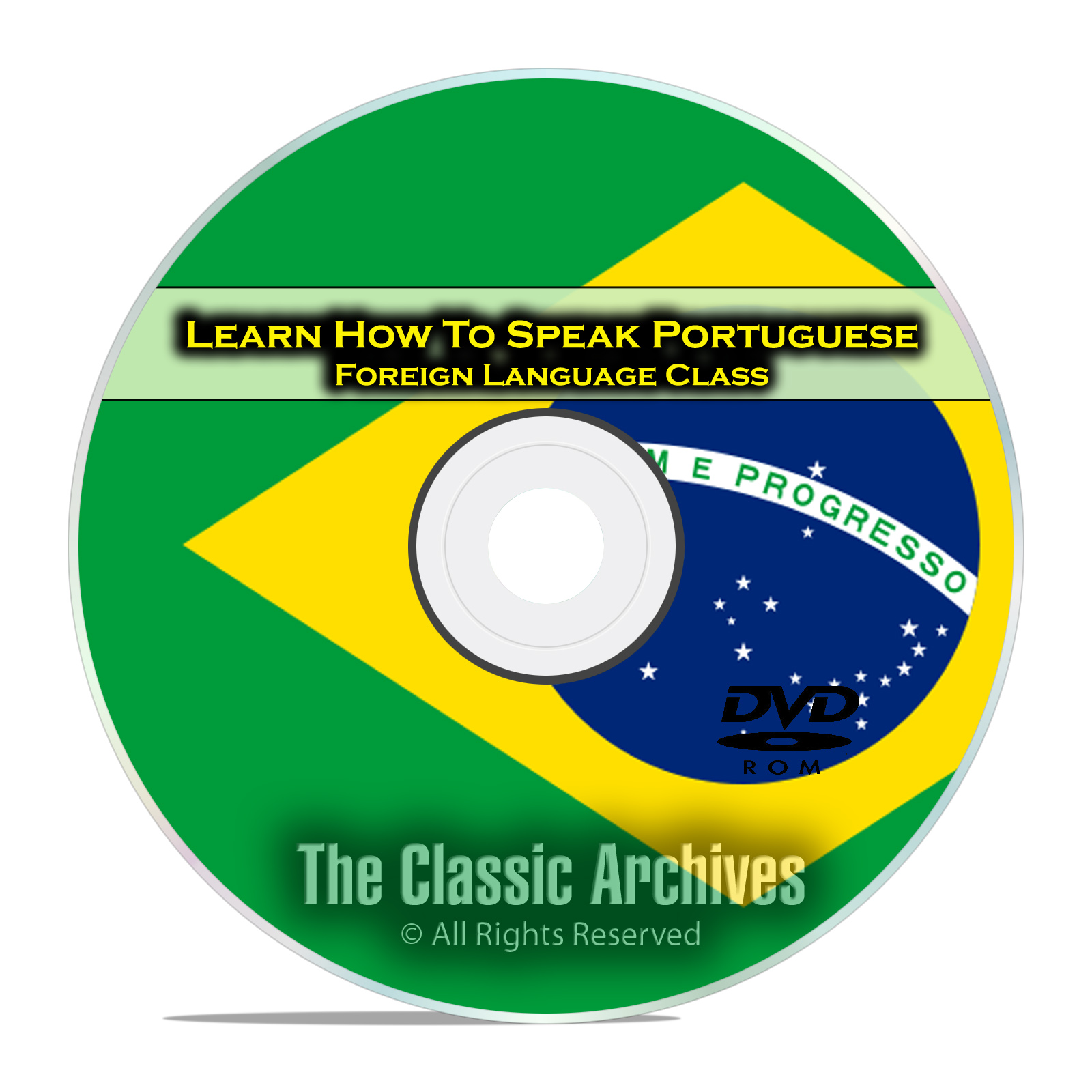Learn How To Speak Portuguese, Fast Foreign Language Training Course, DVD