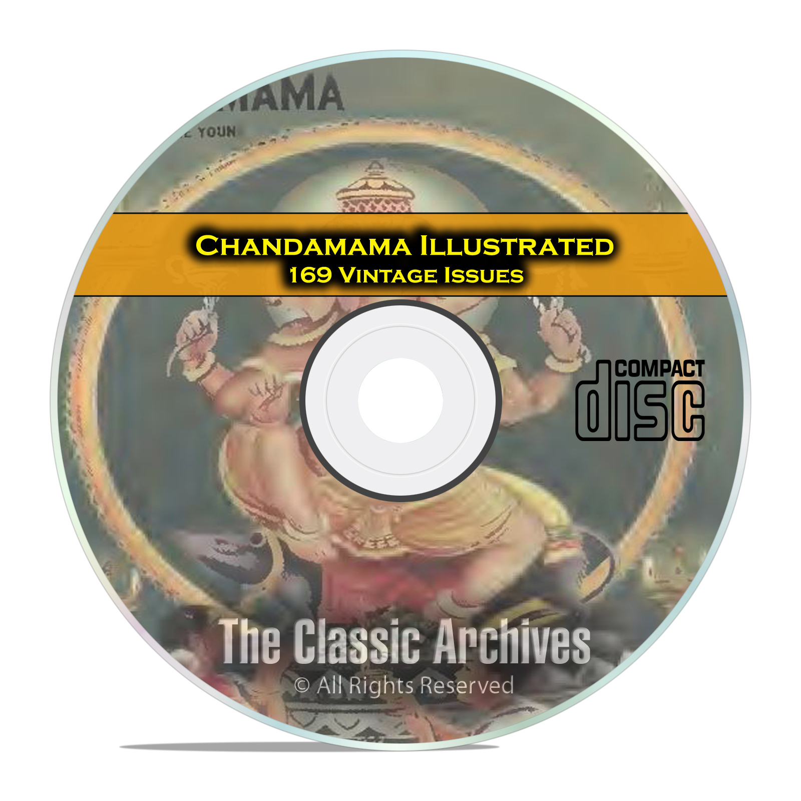 Chandamama Illustrated Magazine, 169 Vintage Children's Magazine Issues, CD