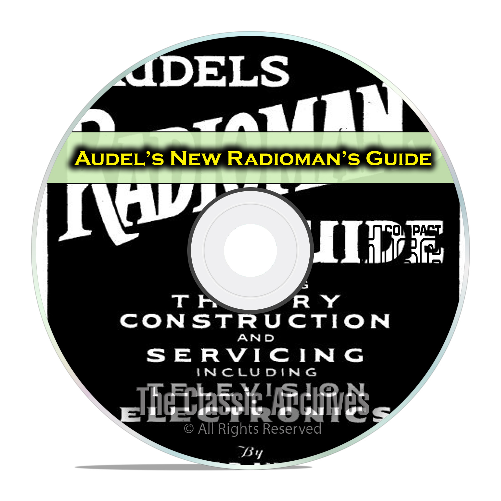 Audel's New Radioman's Guide, Tube Radio Servicing, OTR, Rider PDF CD