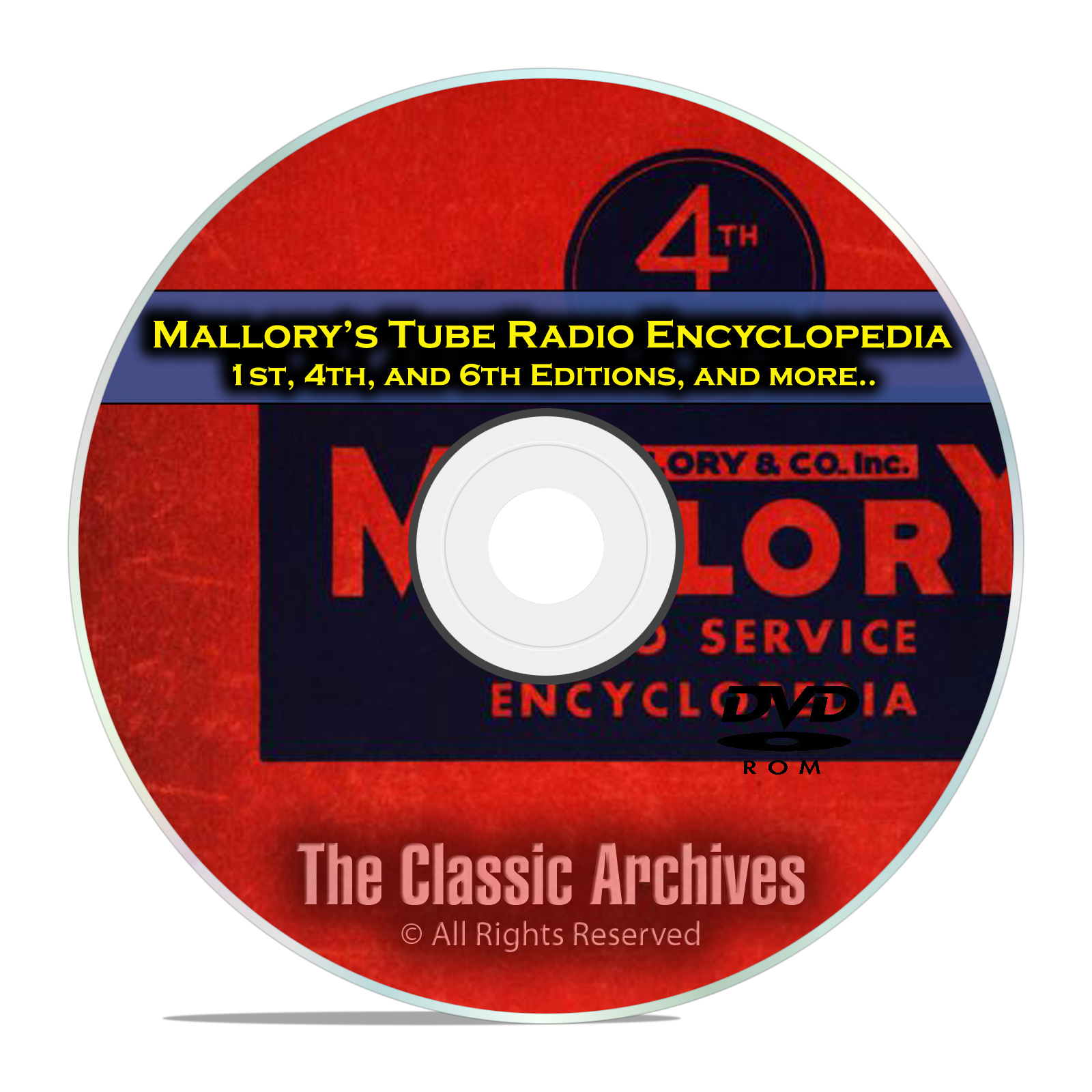 Mallory's Tube Radio Encyclopedia, 1st, 4th, 6th Editions, OTR Rider DVD