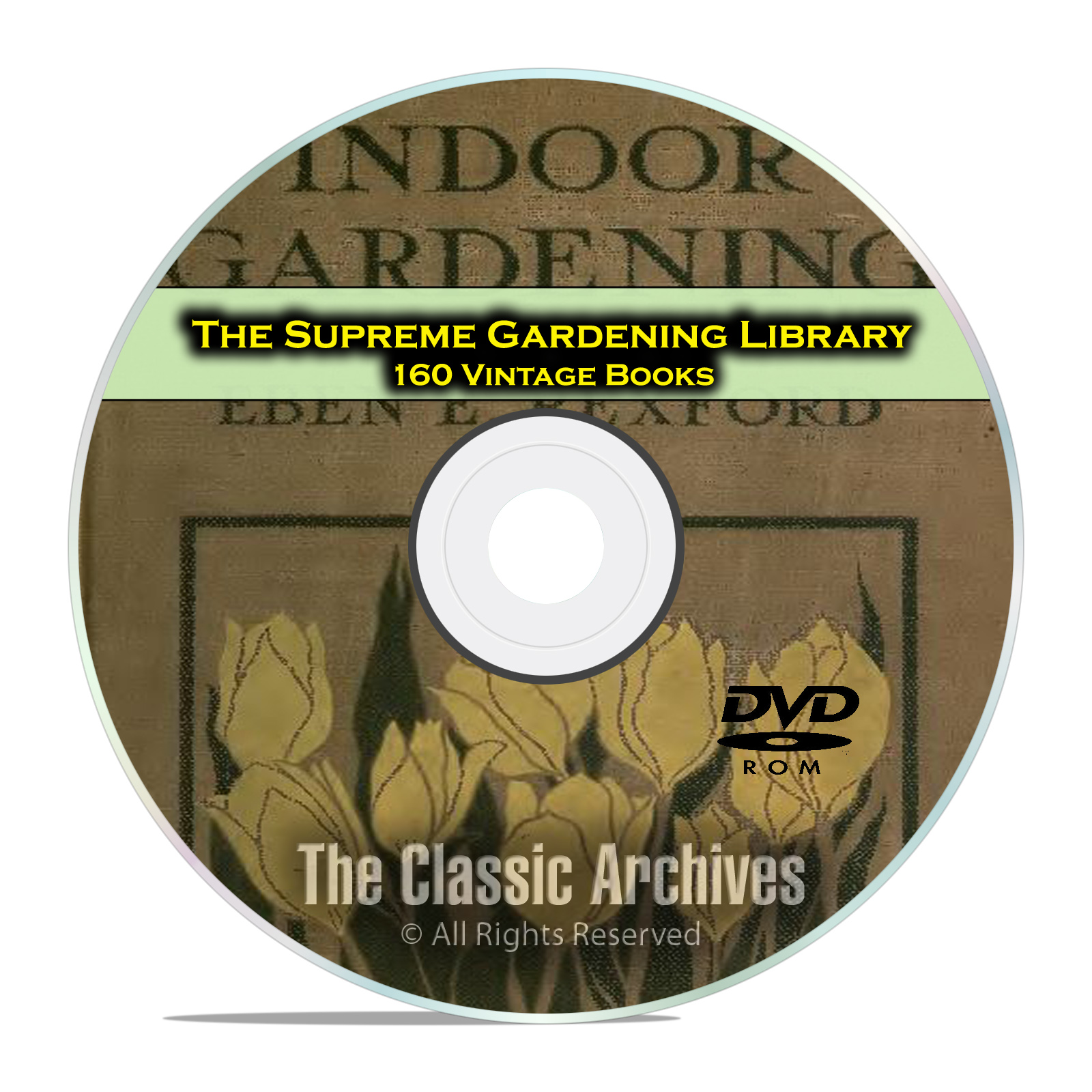 The Supreme Gardening Library, 160 Books Landscaping Garden Plants Grow DVD