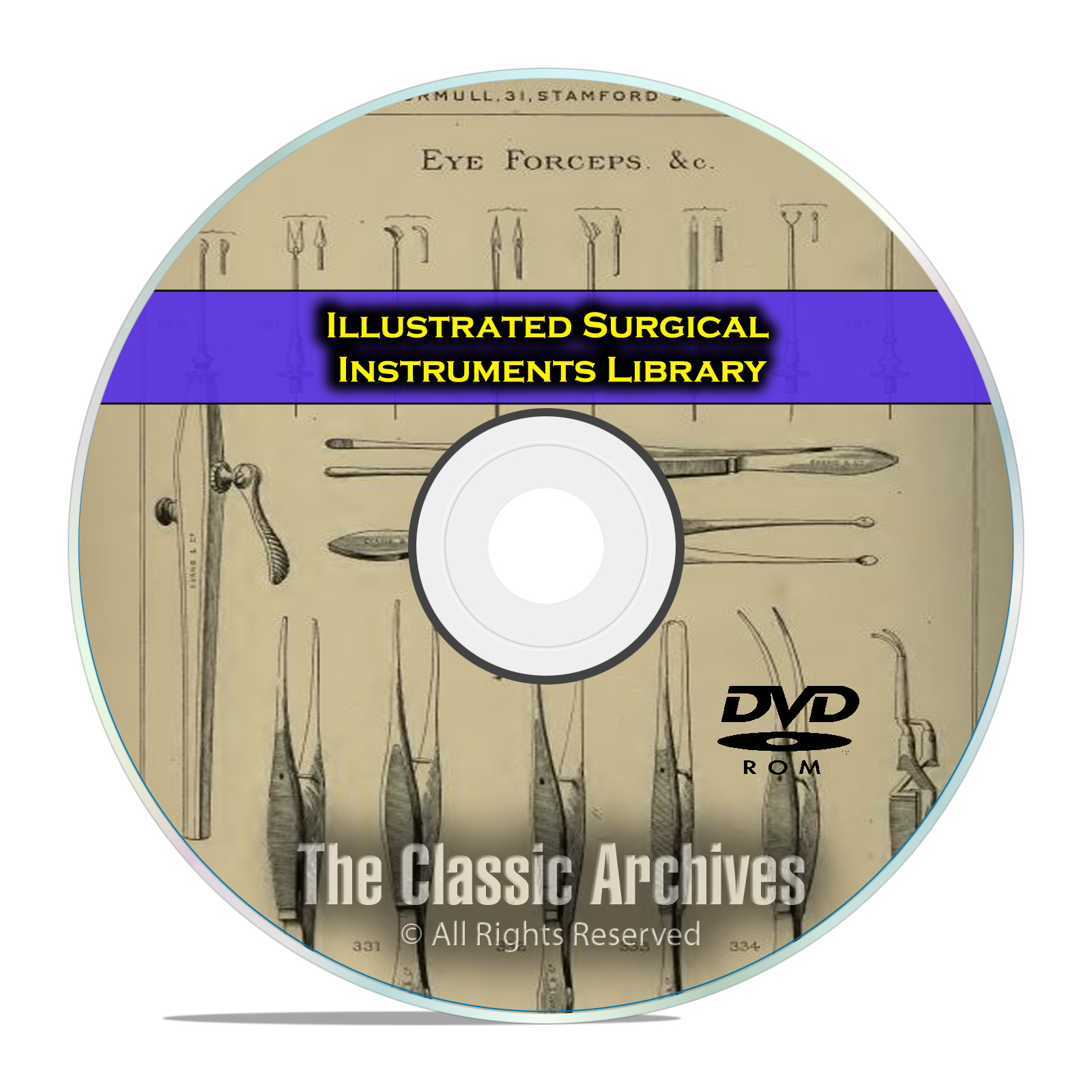 Illustrated Catalog of Surgical Instruments Apparatus, Medical 47 Books DVD