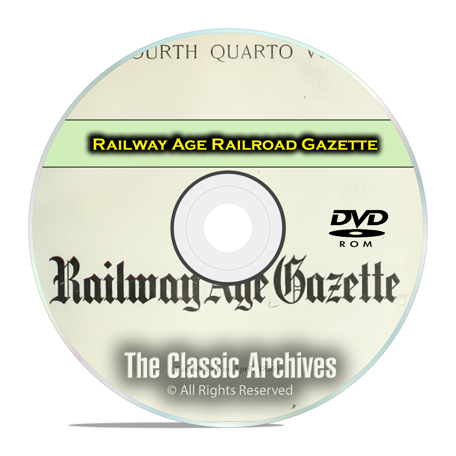 Railway Age Railroad Gazette, Railroad Steam Era History, 858 Issues DVD