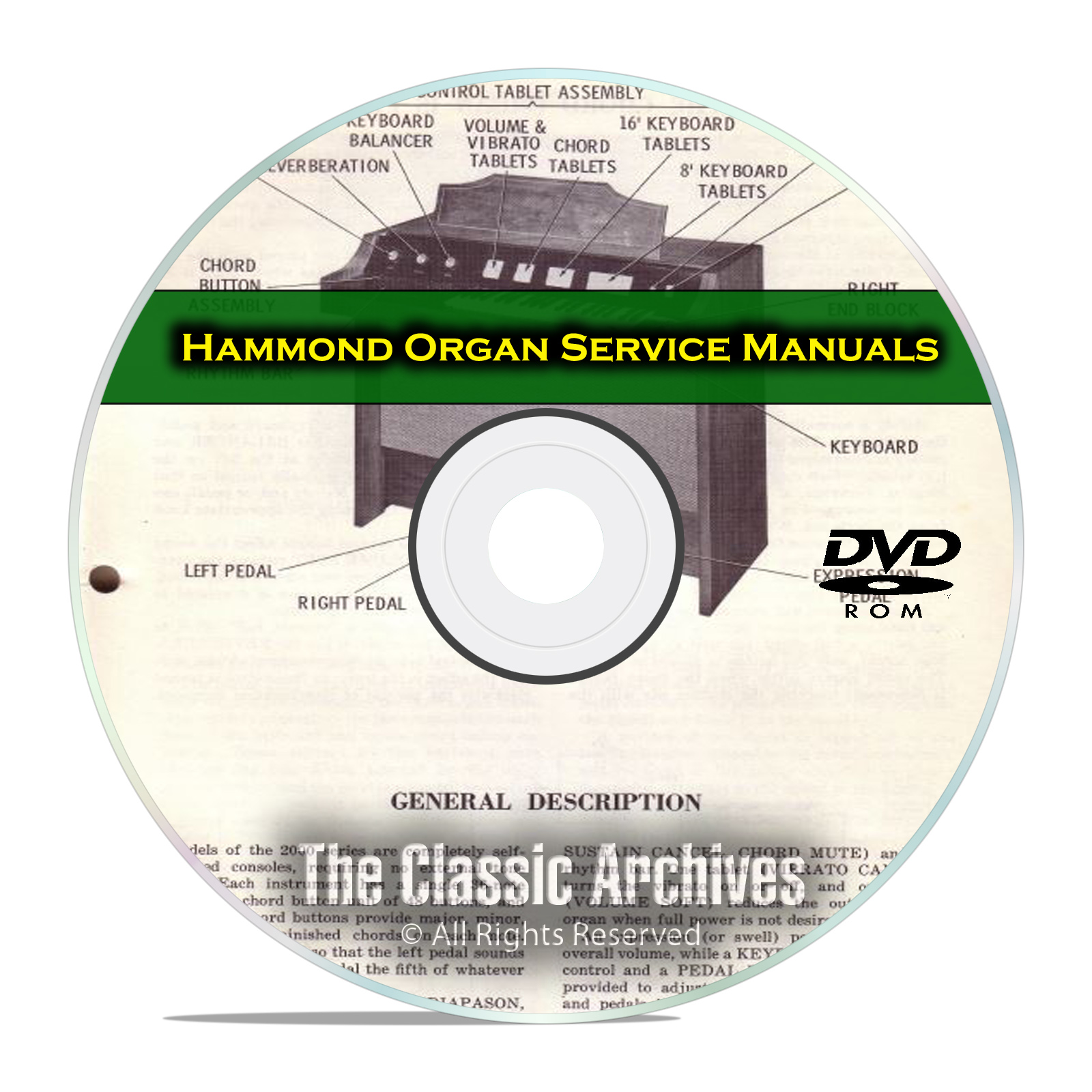 32 Service & Repair Manuals, Hammond Organ, Restoration, Guide Books DVD
