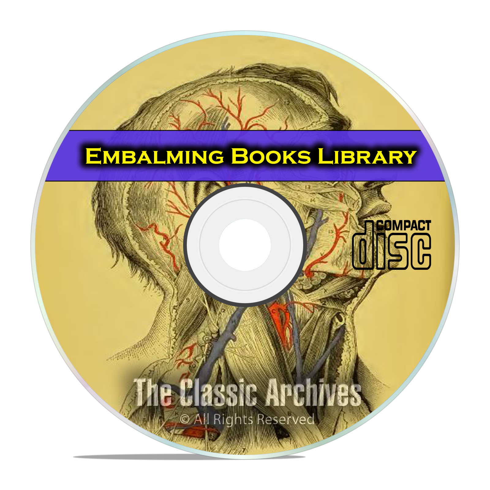The Library of Embalming, History and Practice, Anatomy Autopsy 22 Books CD