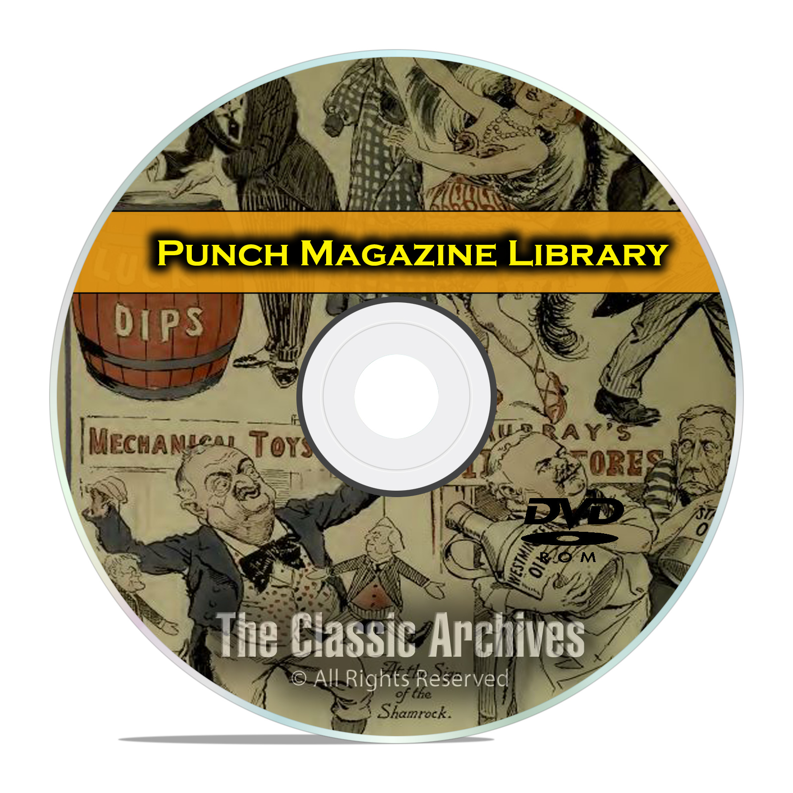 Punch Magazine, British Humor Comics Satire, 78 Volumes, 2028 Issues DVD