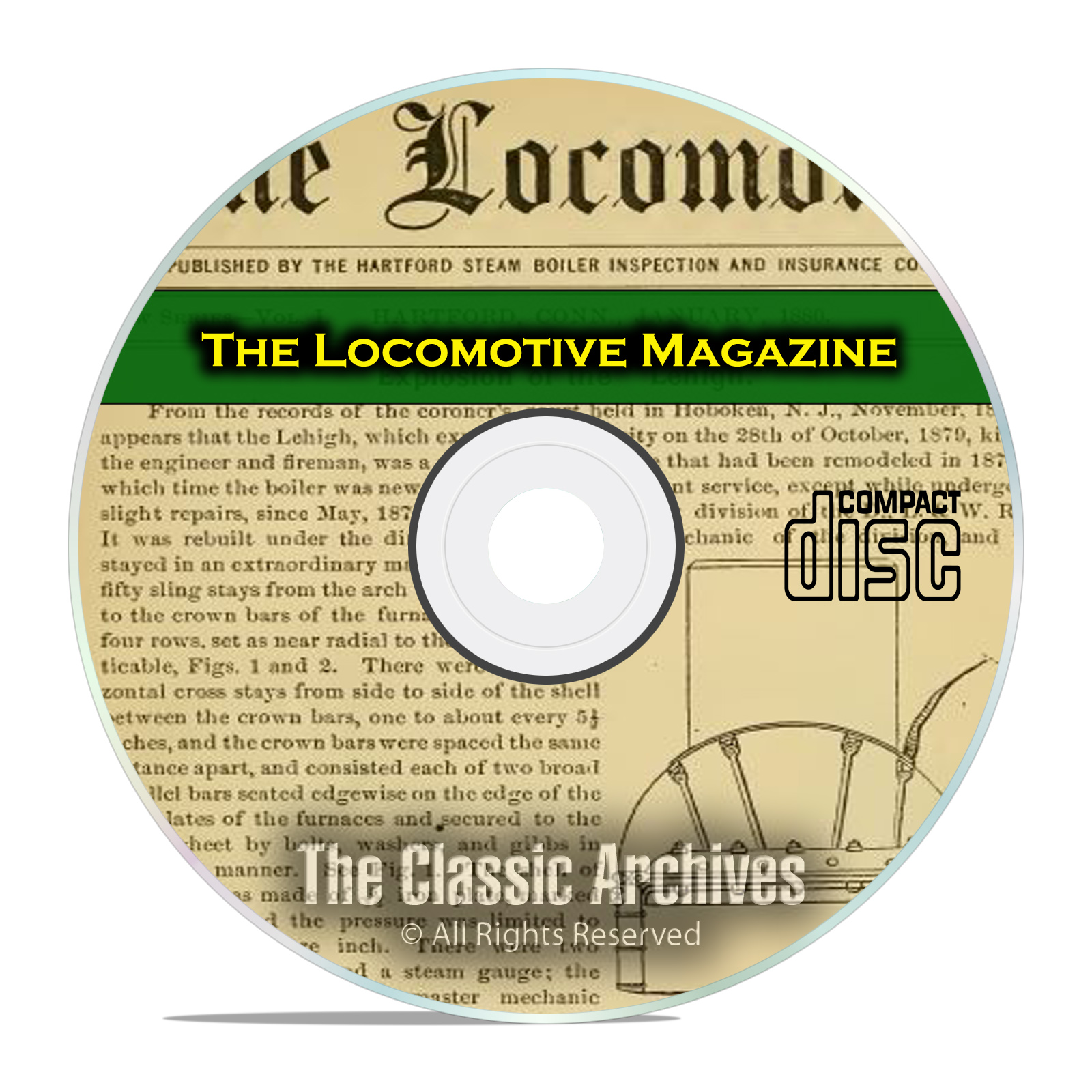 The Locomotive Magazine, Vintage Railroading History Magazine, PDF CD